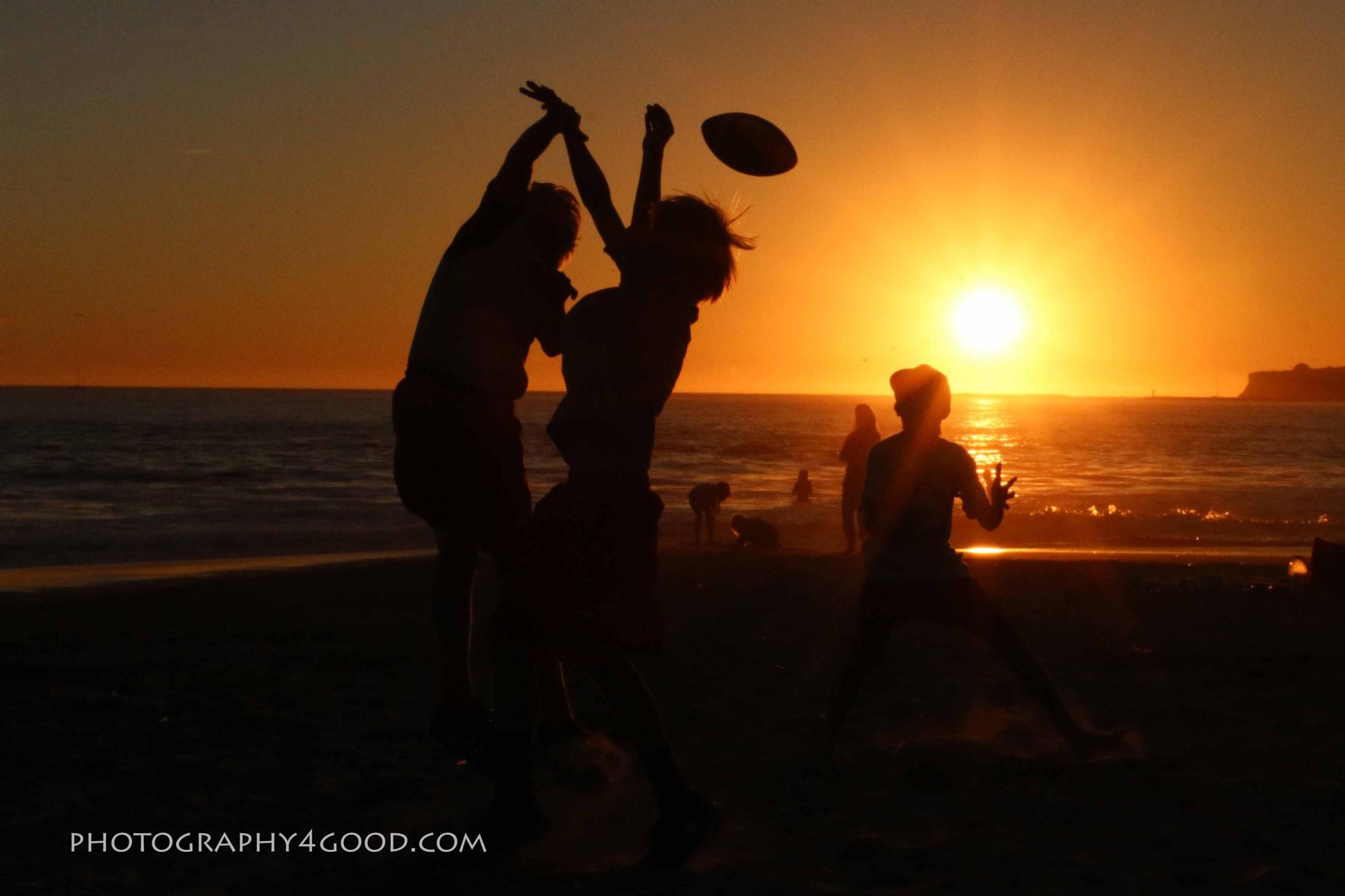 Sunset football on the beach by John_Ediger
