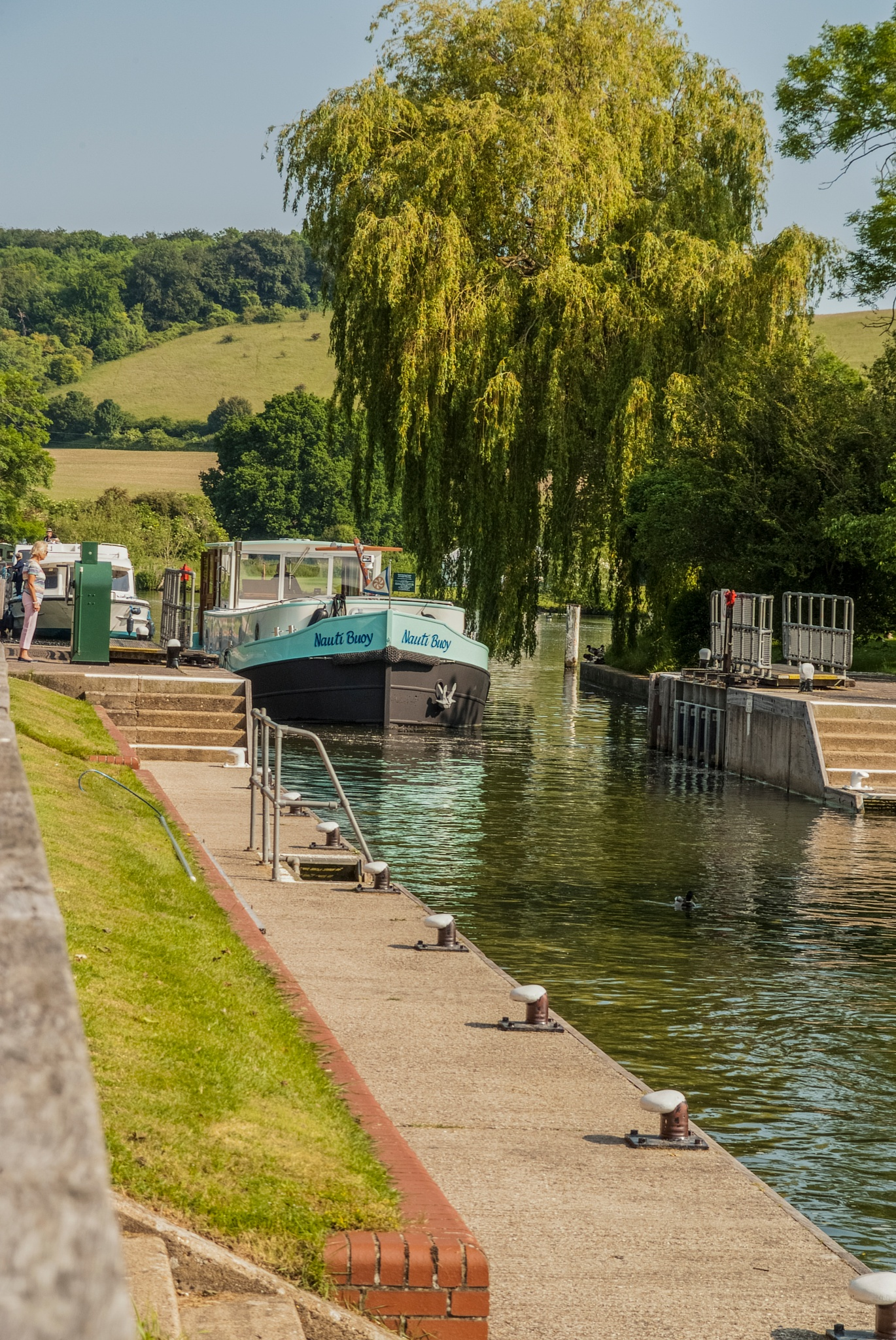 Photo in Landscape #barge #mapledurham lock #landscape