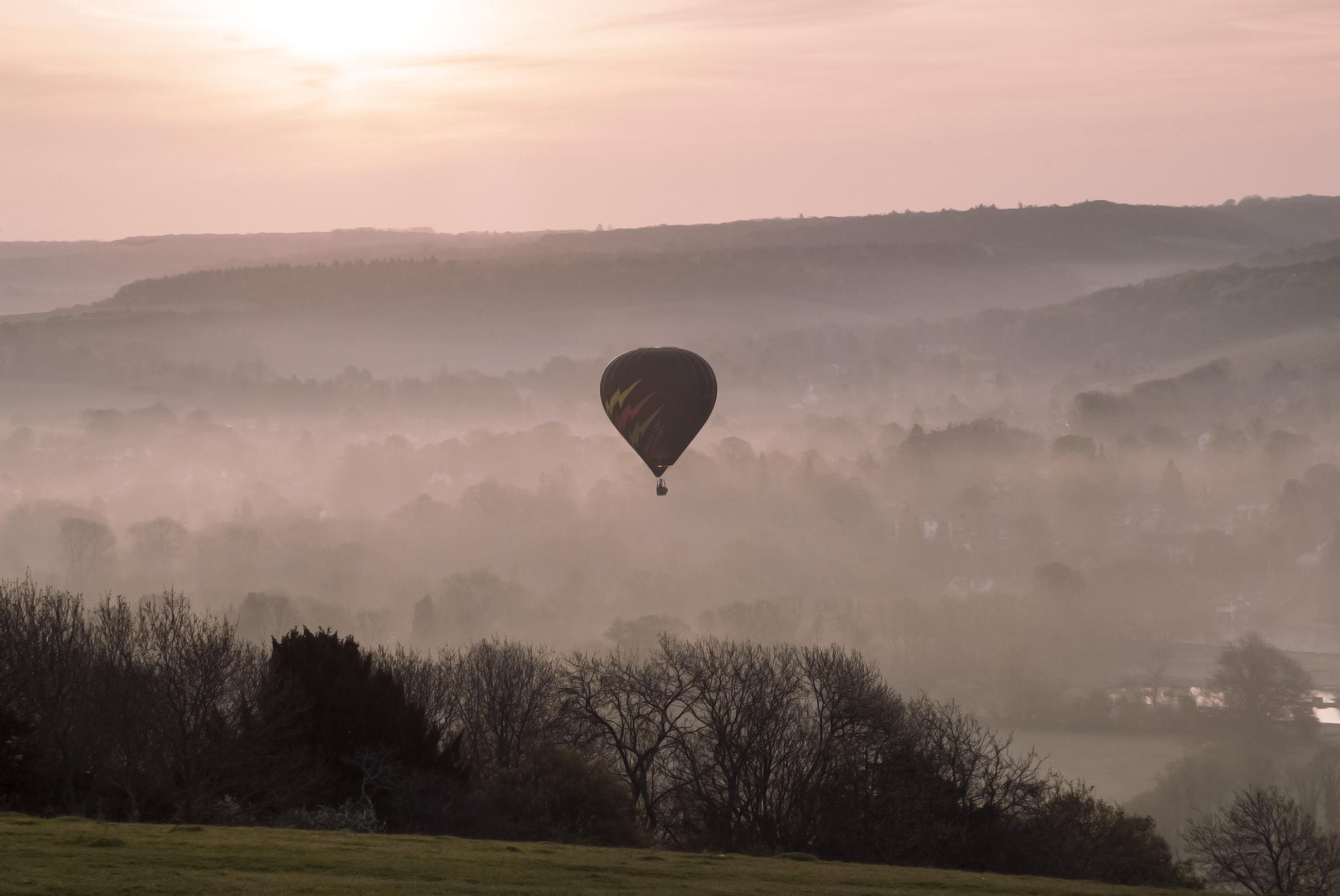Dawn in the Thames Valley at Goring by Jim Hellier
