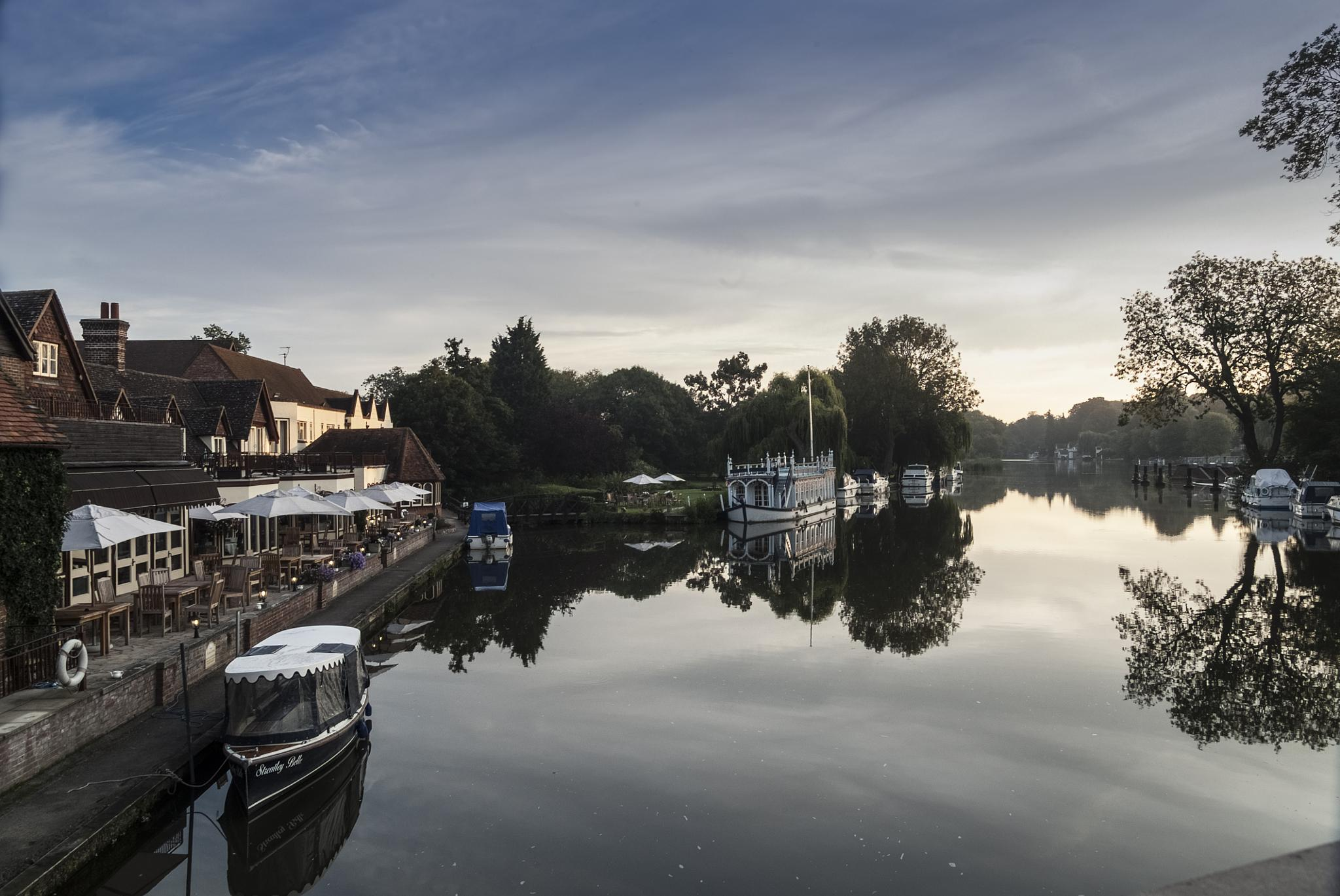River Thames at Goring on Thames by Jim Hellier