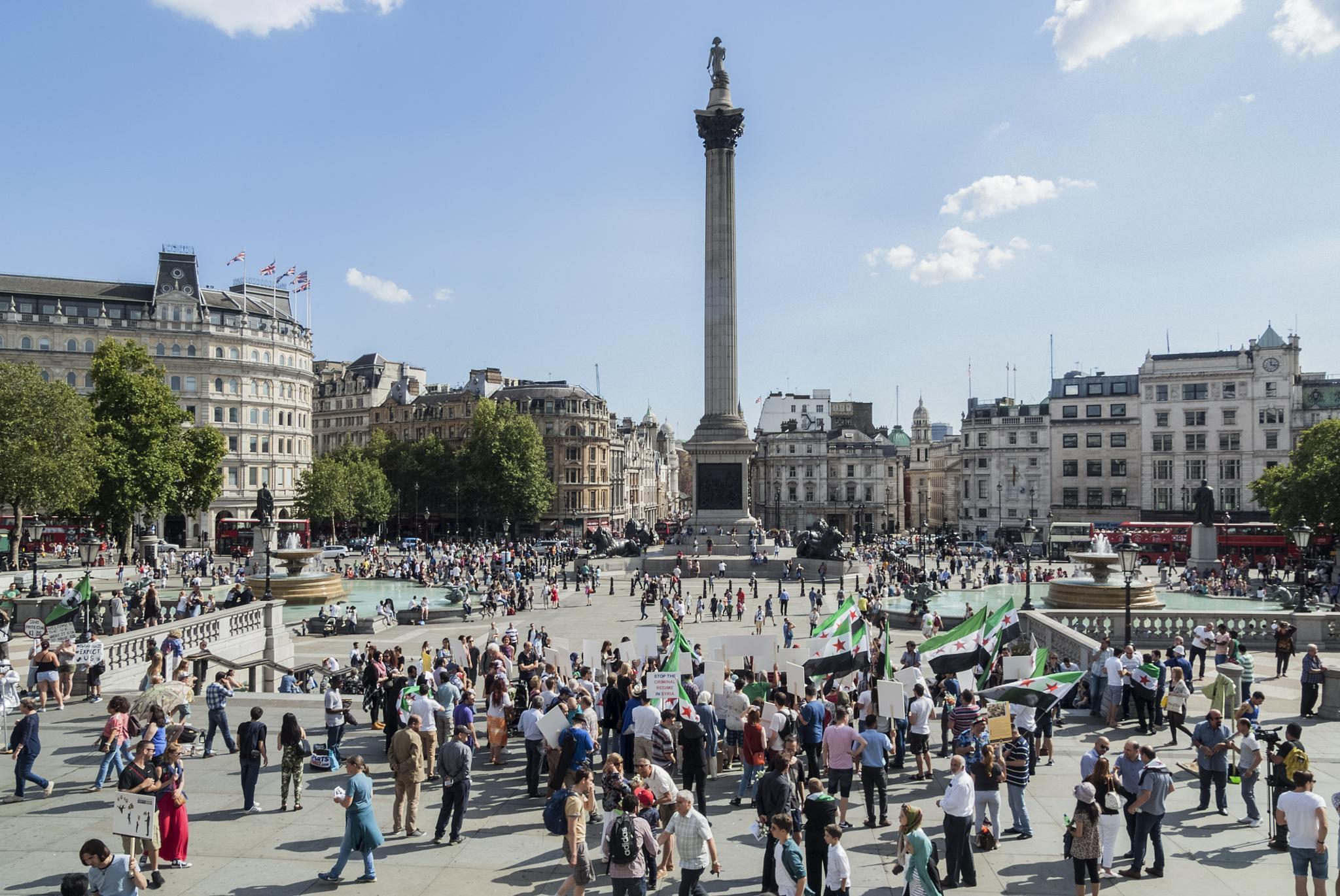 Trafalgar Square  by Jim Hellier