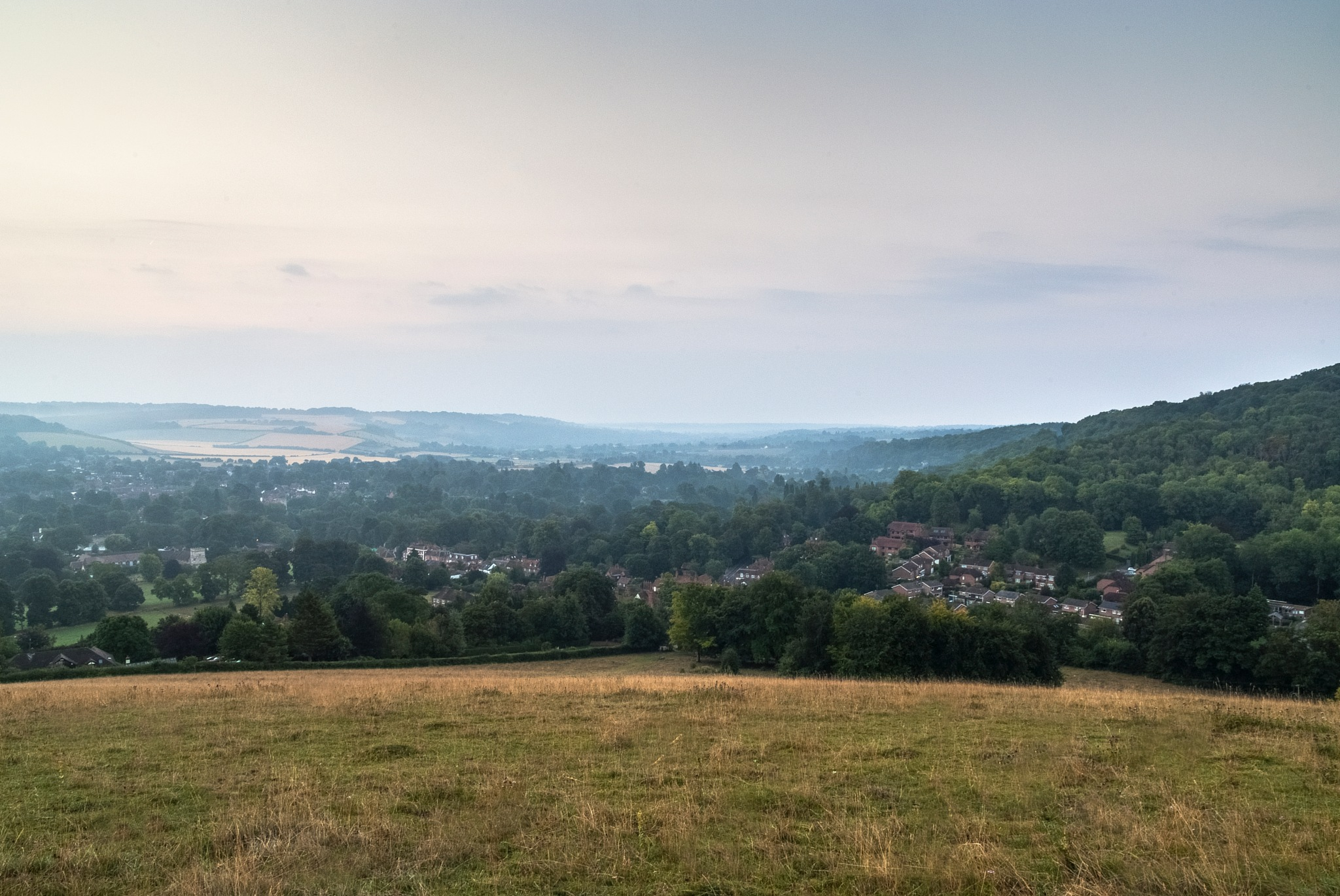 Thames Valley from Lardon Chase by Jim Hellier