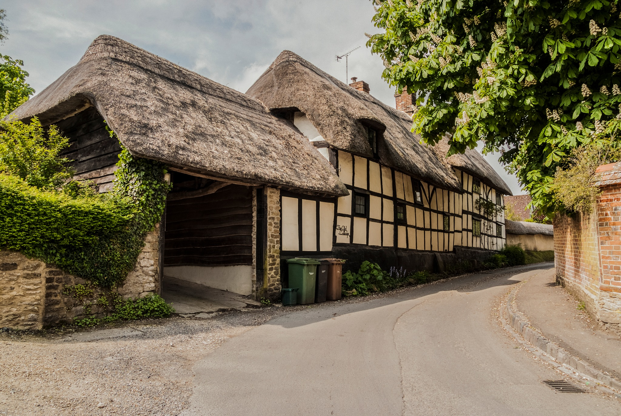 Cottages on the Berkshire Downs  by Jim Hellier