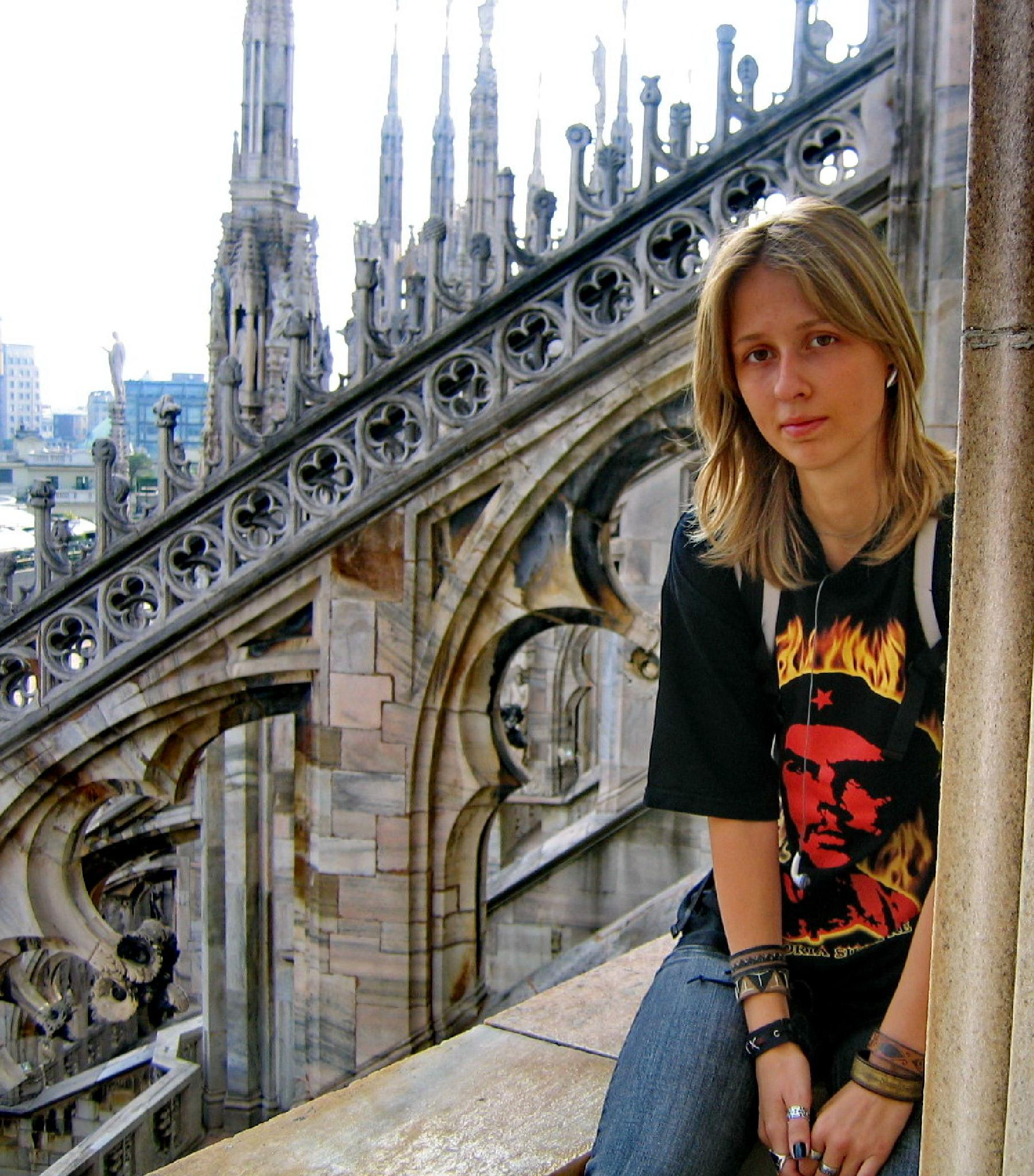 On the roof of the Dome of Milan by Irina Carmen Brinza