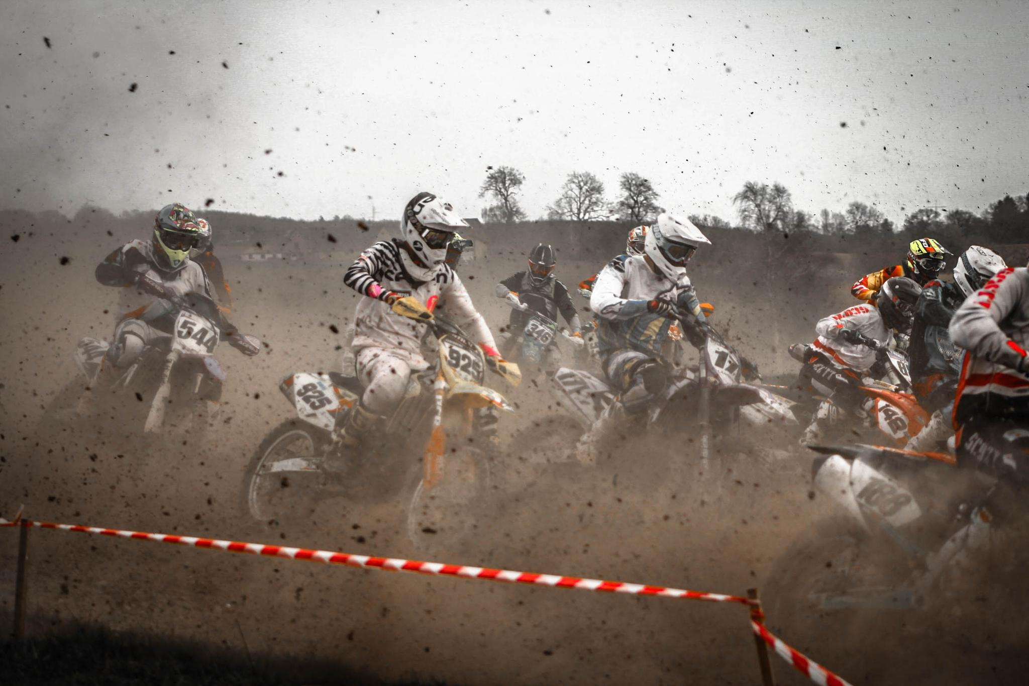 Photo in Sports #motokross #transportation #dirt #action #people