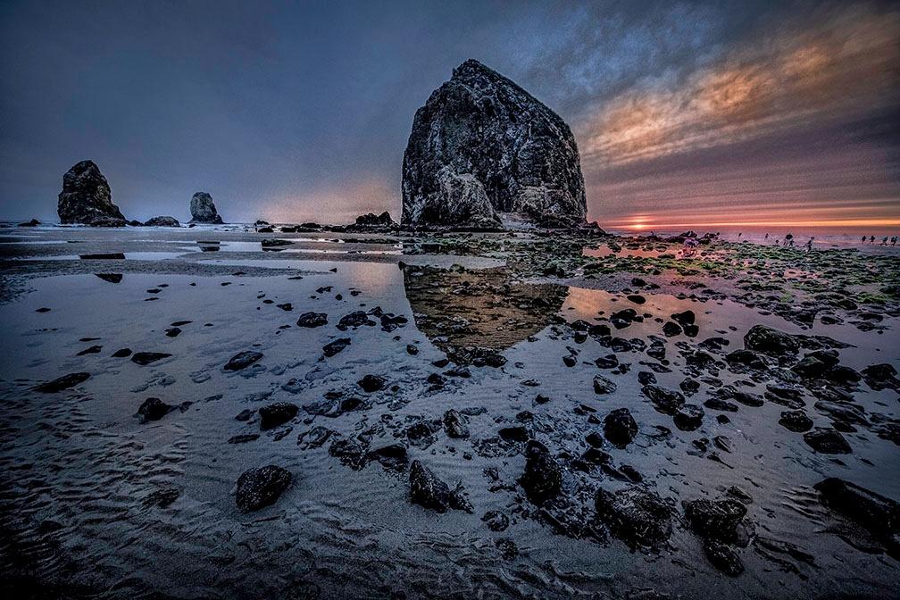 Haystack Rock, Canon Beach by RonnBeams