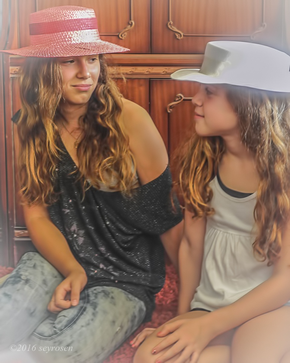 nieces and grandma's hats... by seyrosen