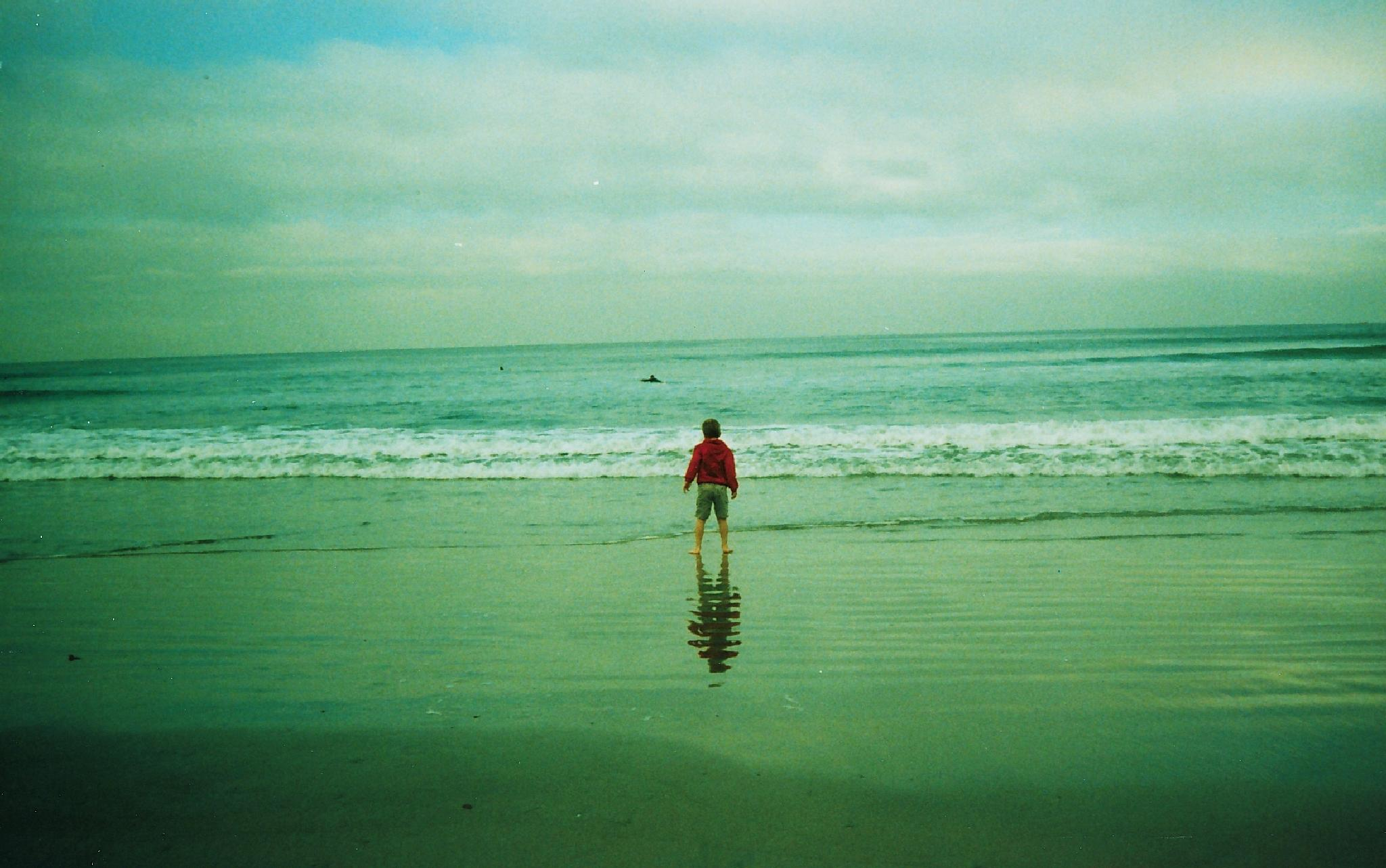 Photo in People #boy #ocean #sky #water #reflection #inspiration