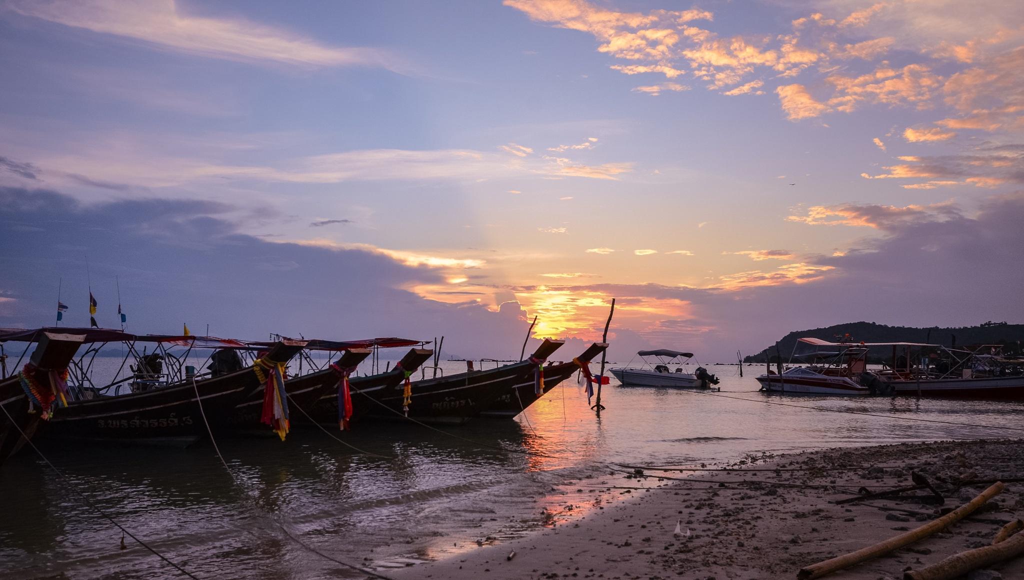 Samui boats by Wayne Baptiste