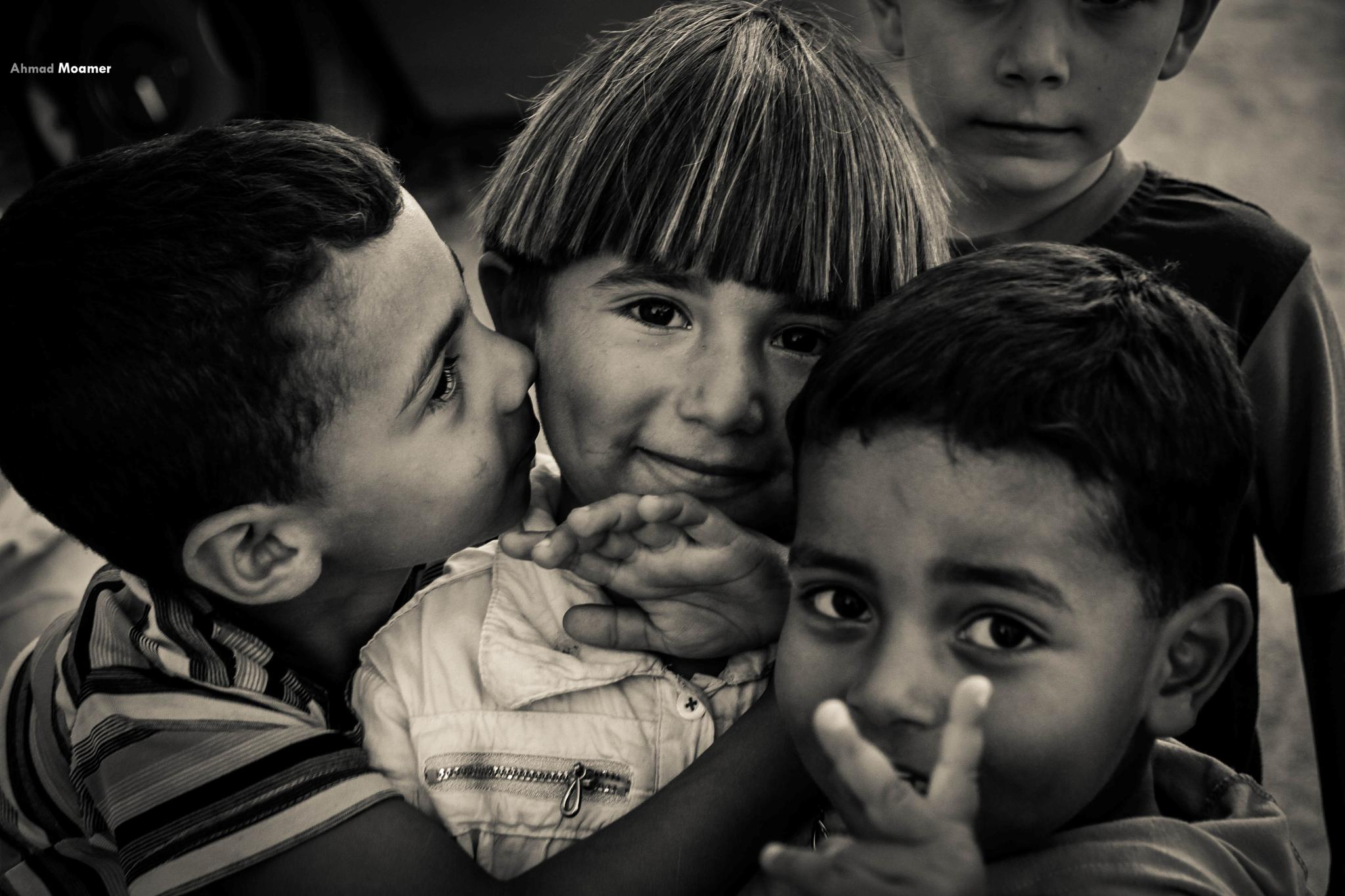 The children of Gaza, where simplicity and innocence in the eyes.  by Ahmad Moamer Photography