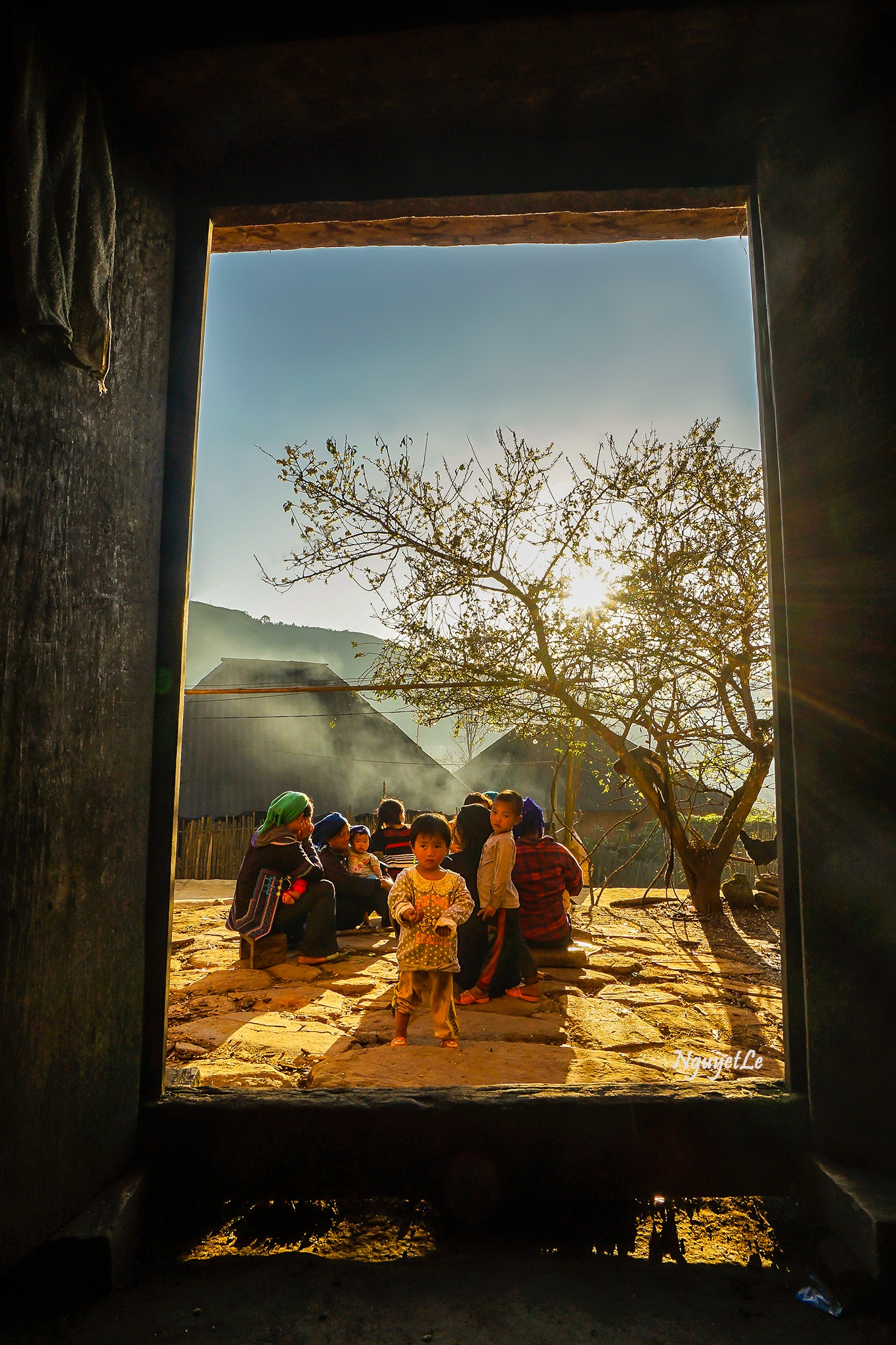 Peace life behind the door by Nguyet Le