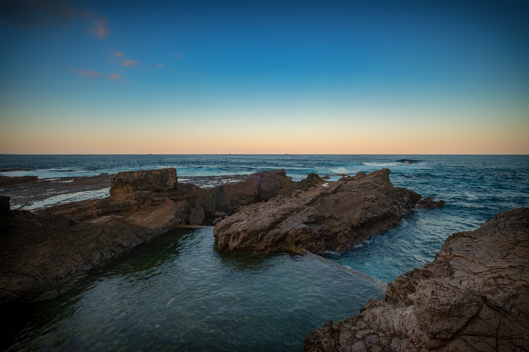 The Chain Baths at Sunset by Peter Medbury