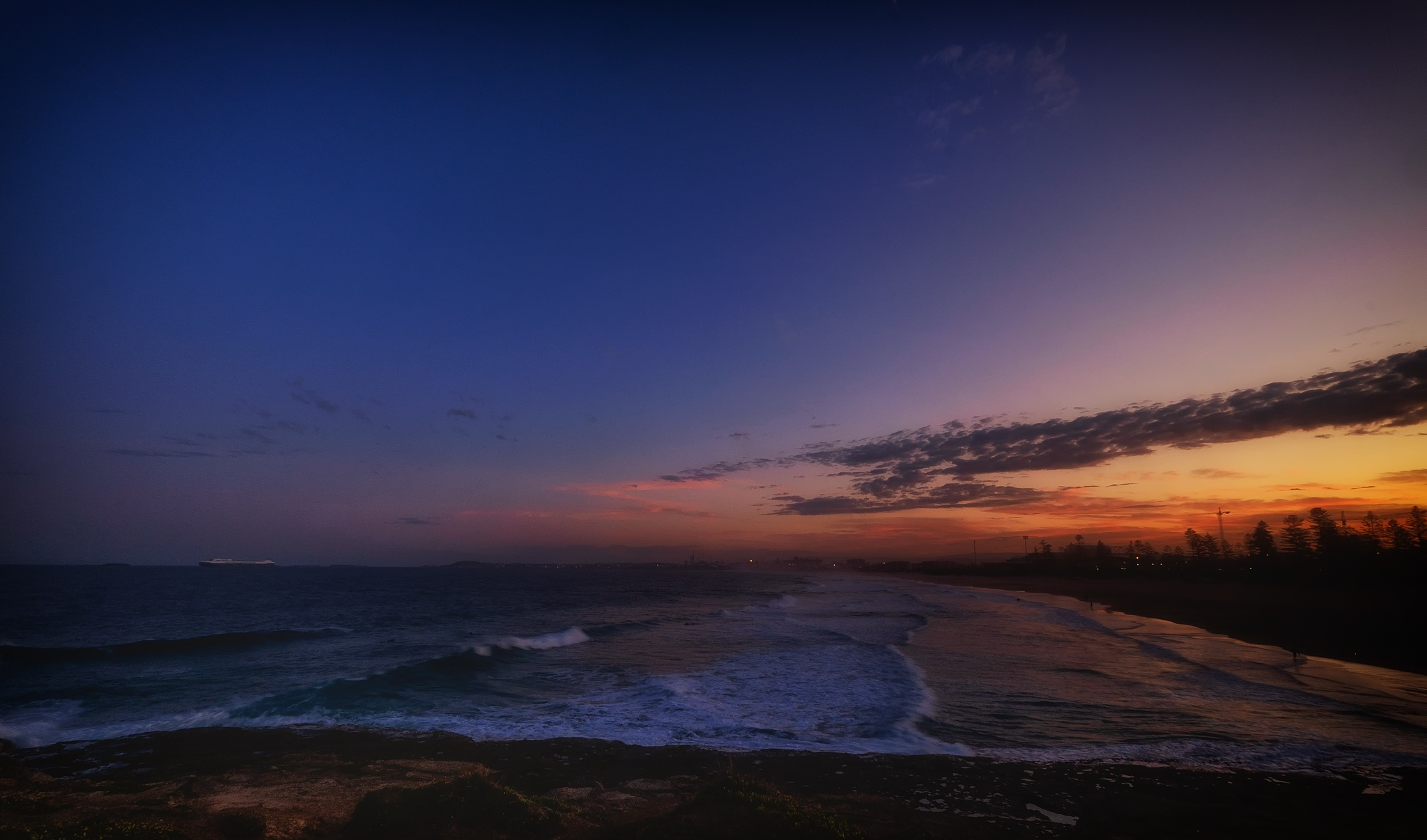 Wollongong Beach after Sunset by Peter Medbury