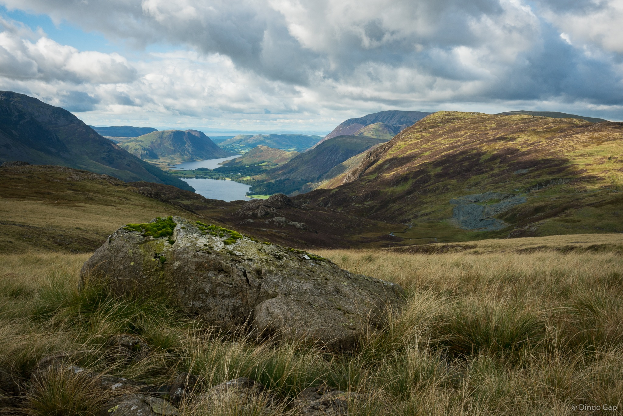 Buttermere and Crummock Water by Peter Medbury