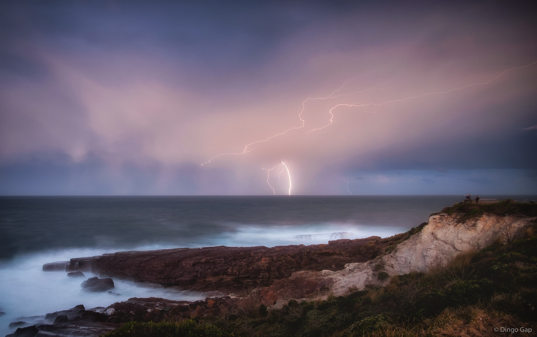 Enjoying The Storm by Peter Medbury