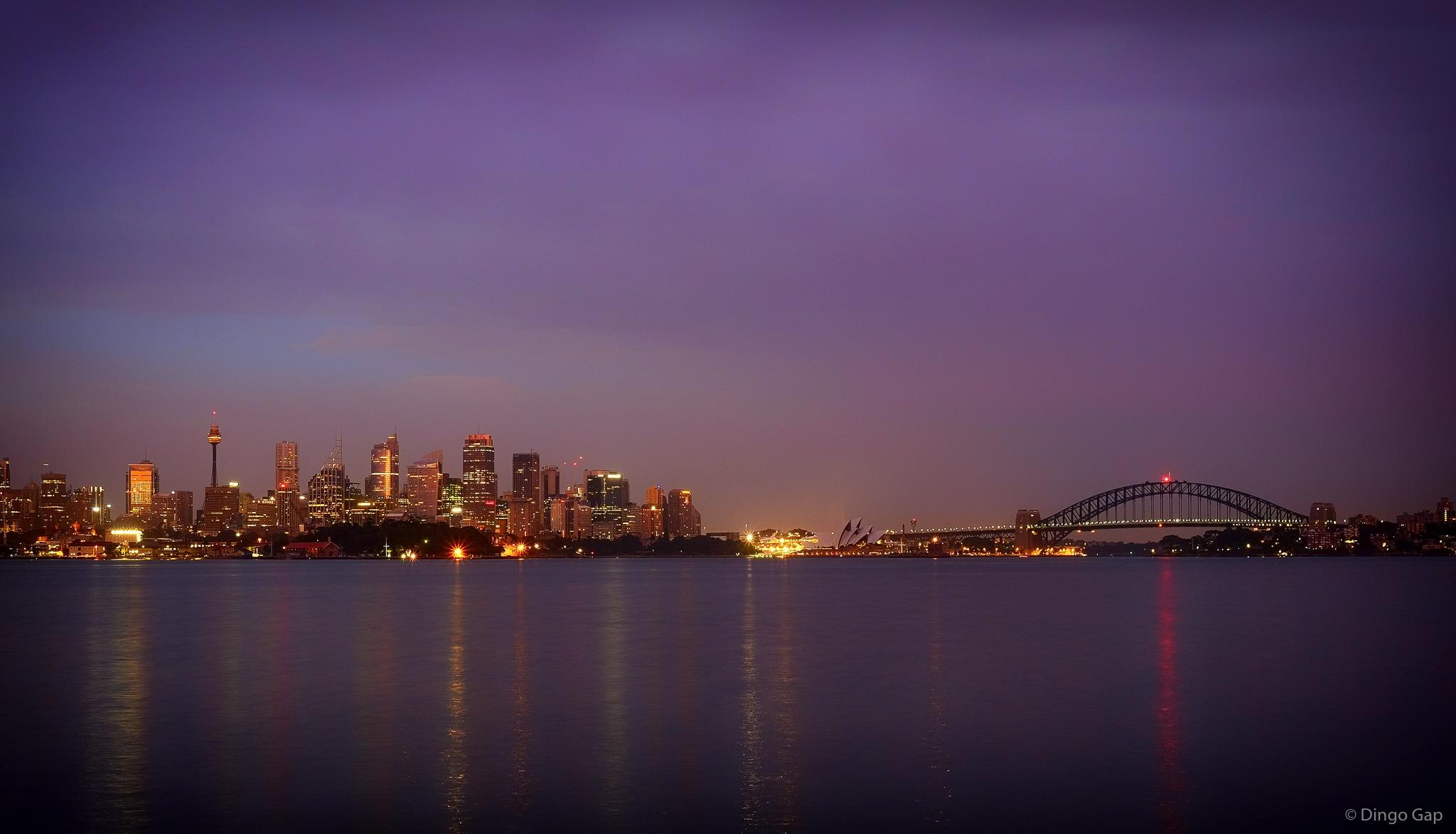 Sydney at first light by Peter Medbury