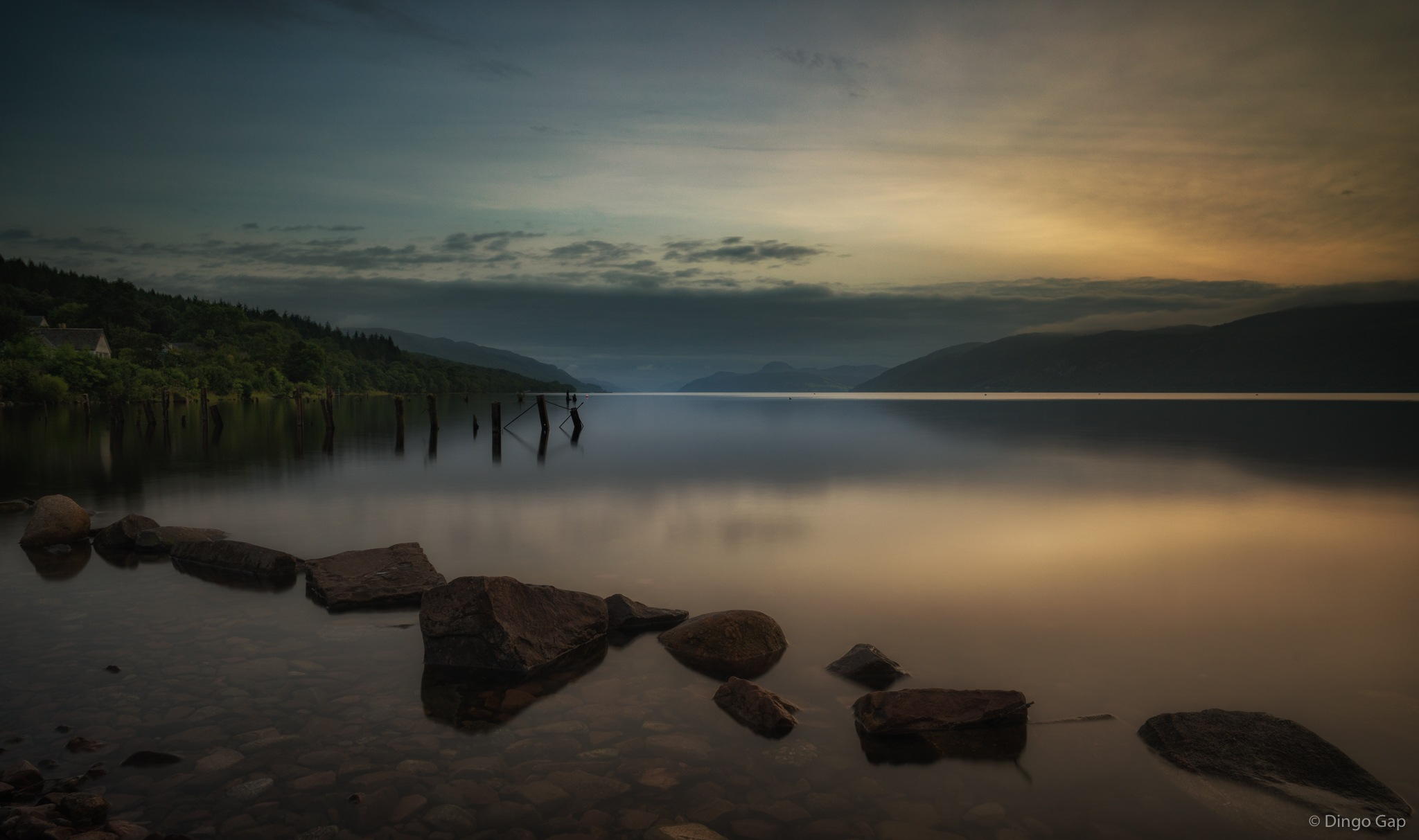 A last touch of sunlight at Loch Ness by Peter Medbury