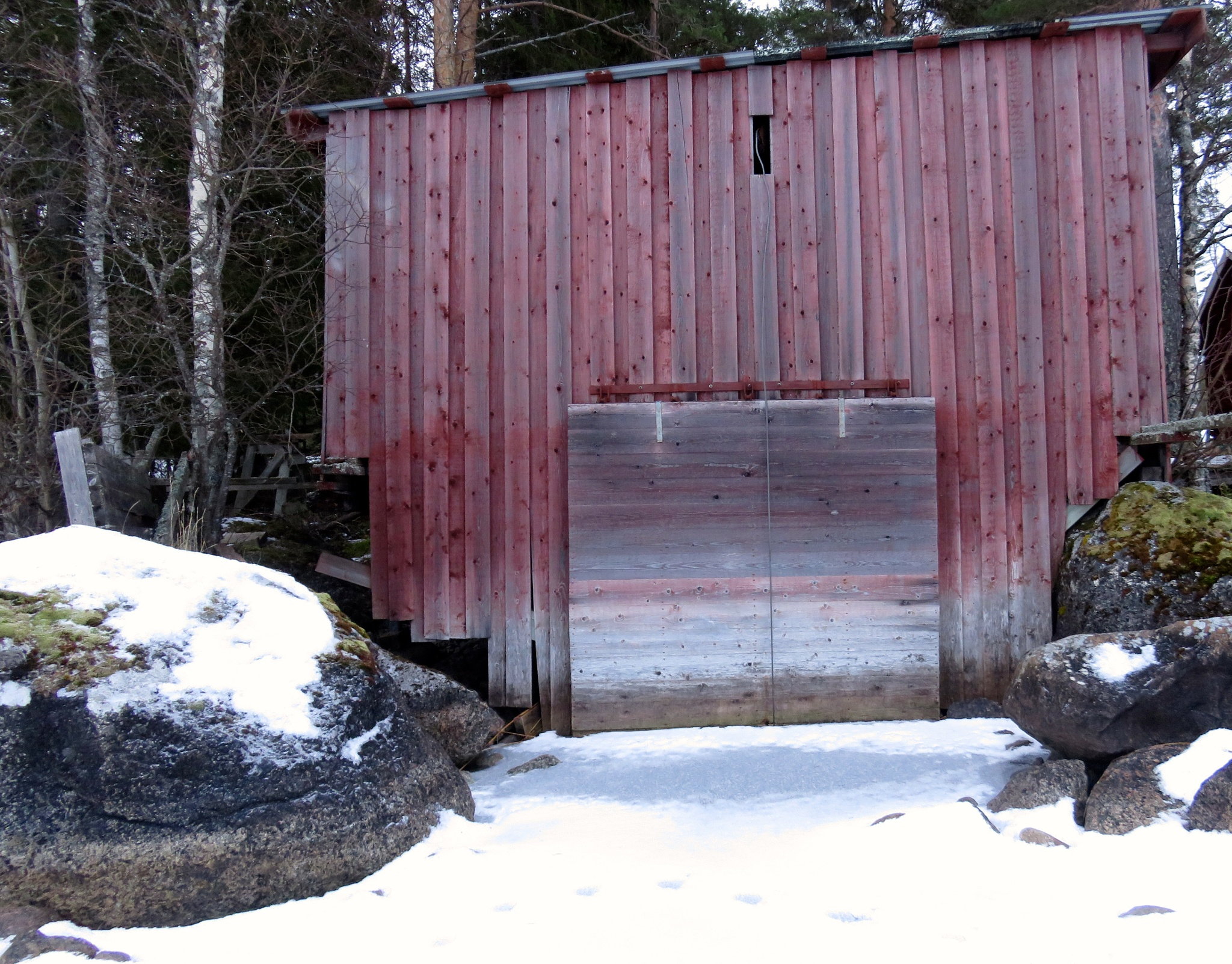 Old boathouse with beautiful doors  by Birgith Haraldsson