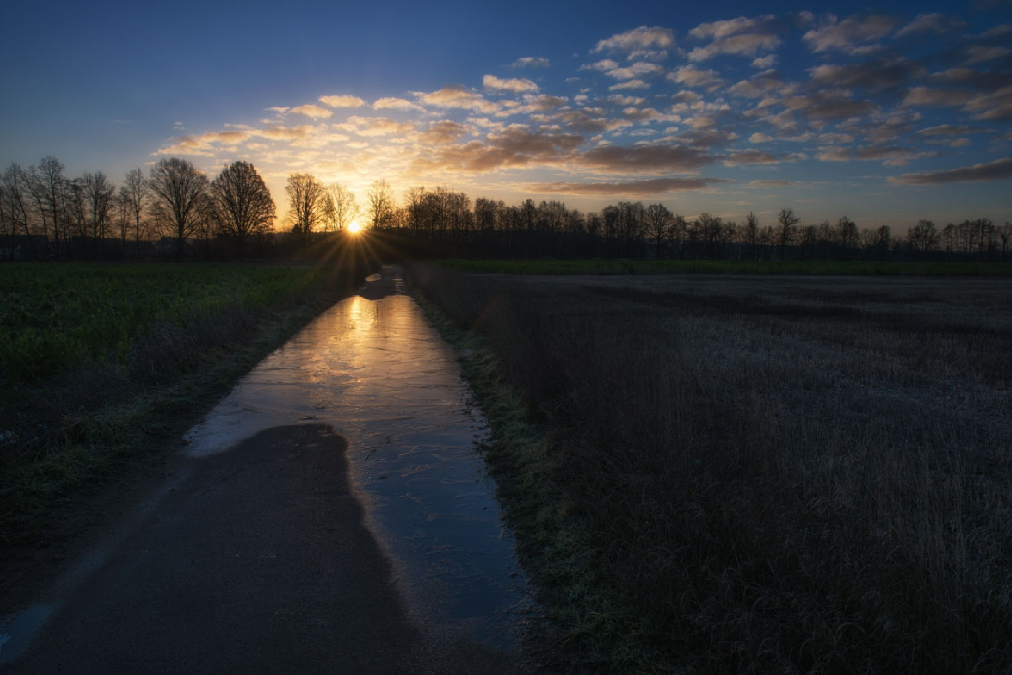 sunrise without snow by Hans Zitzler