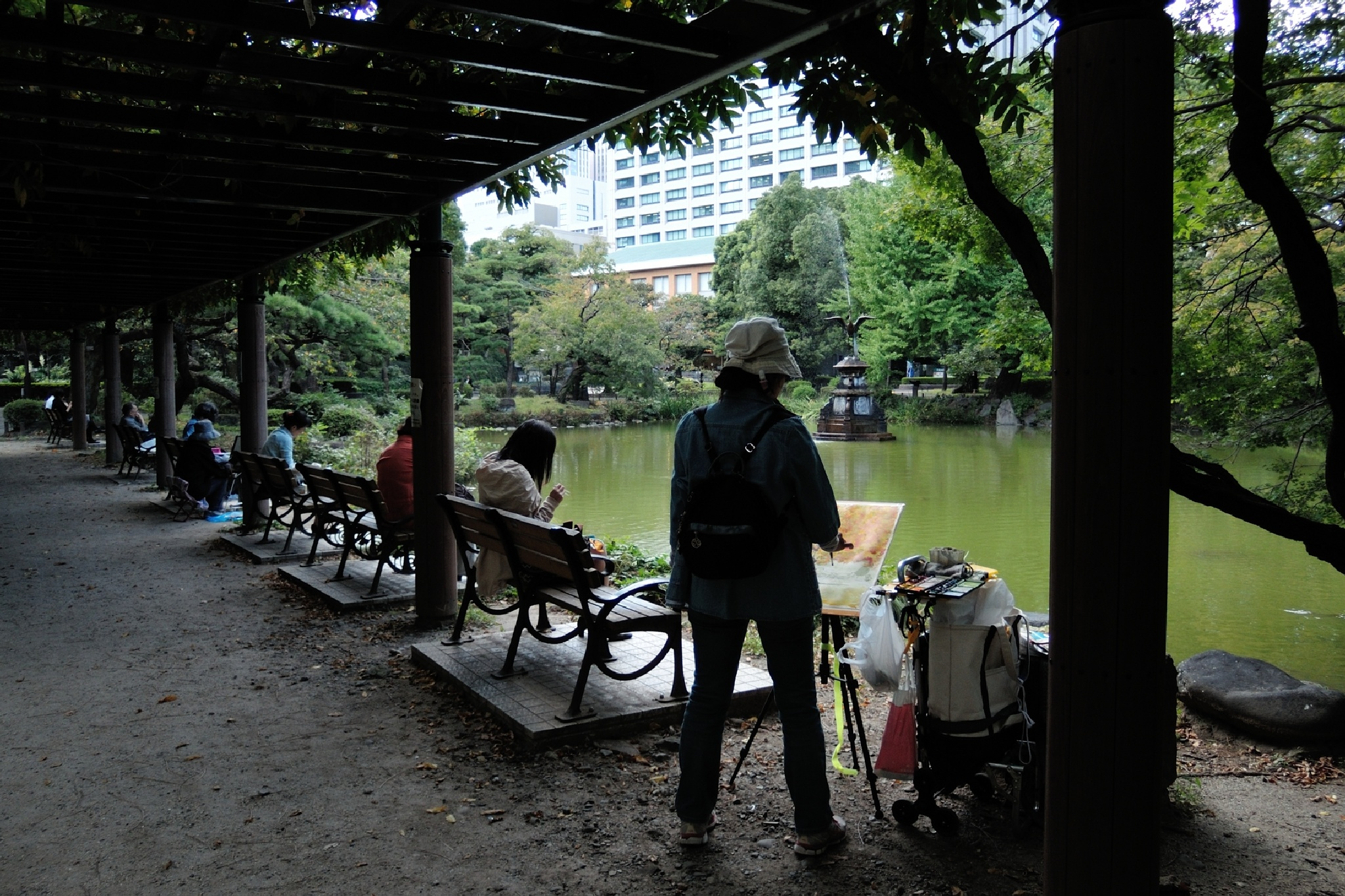 Snap Shot at Hibiya Park, yesterday by Mubi.A