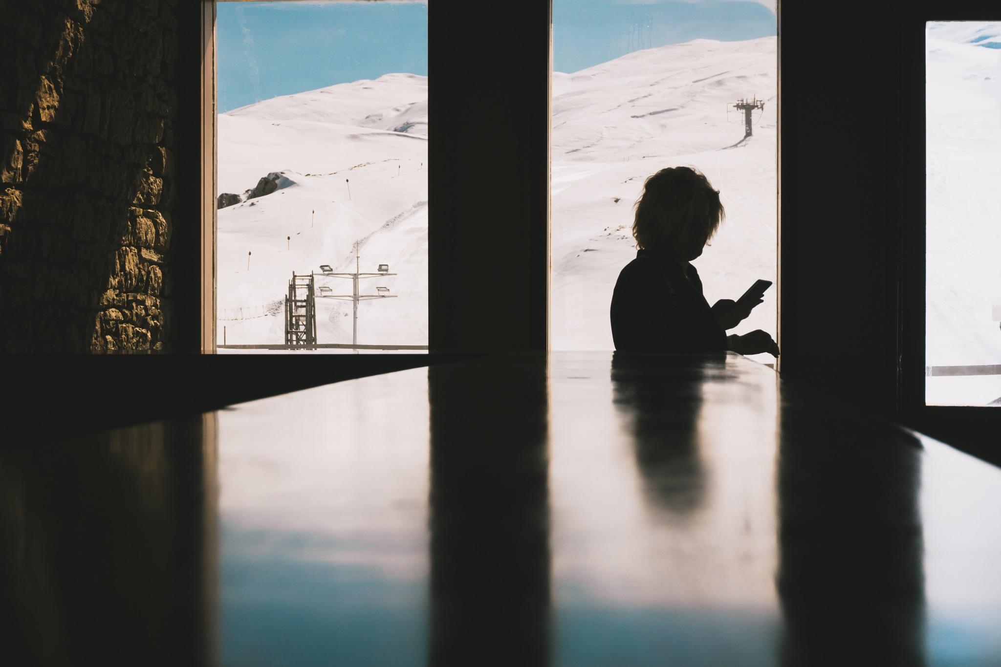Photo in Landscape #mountain #winter #cold #white #snow #ski center #skiing #sports #greece #parnassos #landscape #woman
