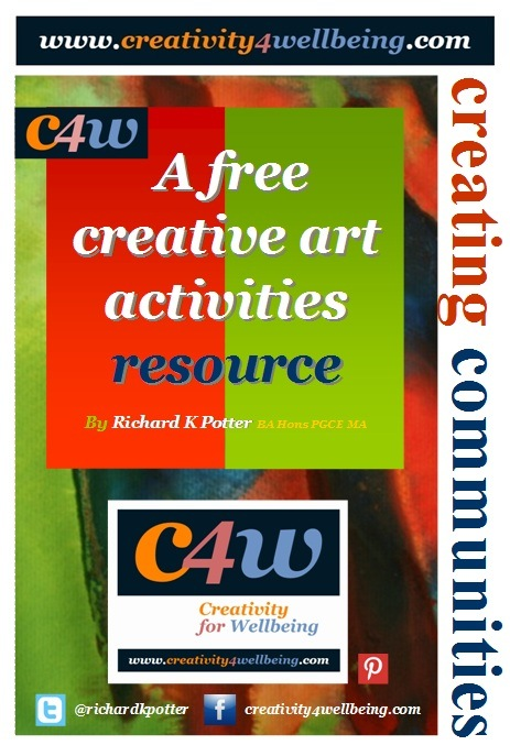 Creativity for Wellbeing - Poster by Richard K Potter