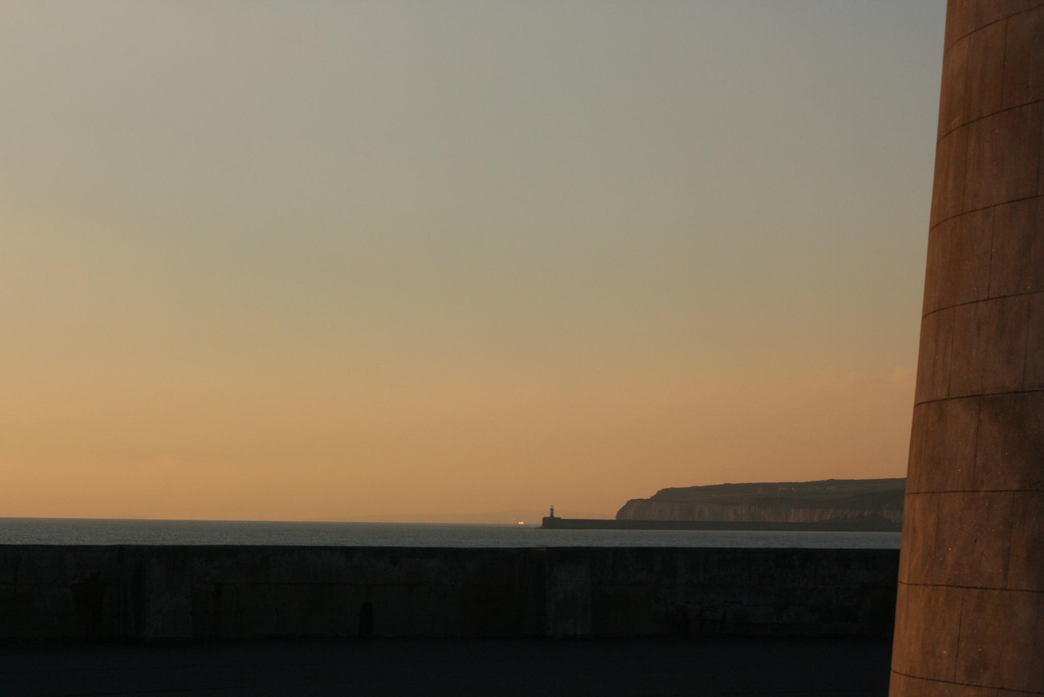 Photo in Sea and Sand #seaford #beach #martello #sunset