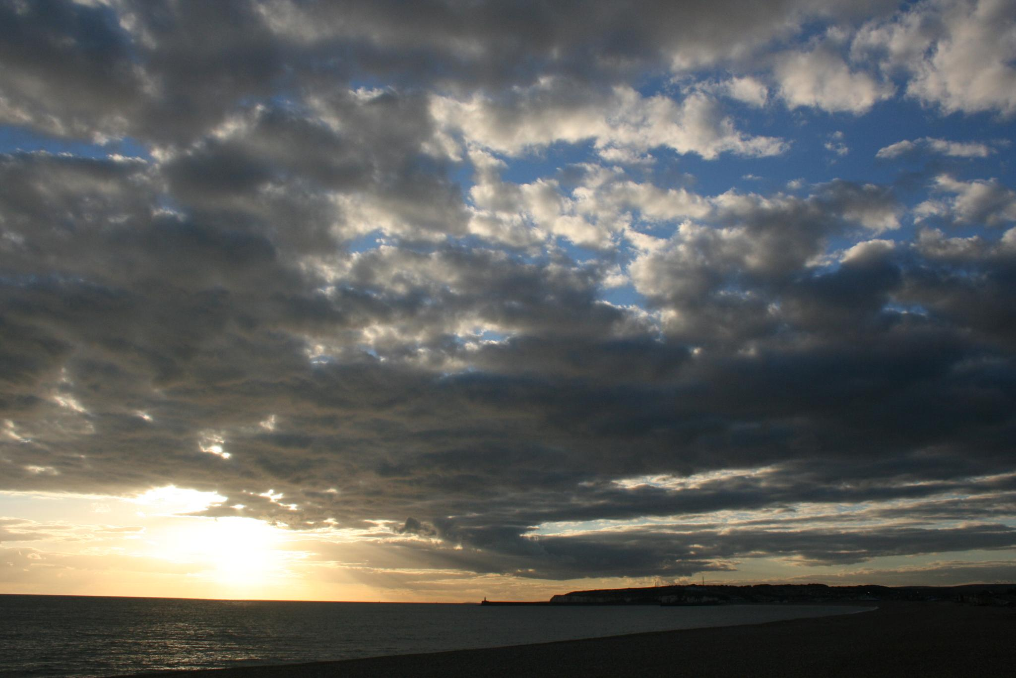Photo in Sea and Sand #seaford #beach #lighthouse #sunset