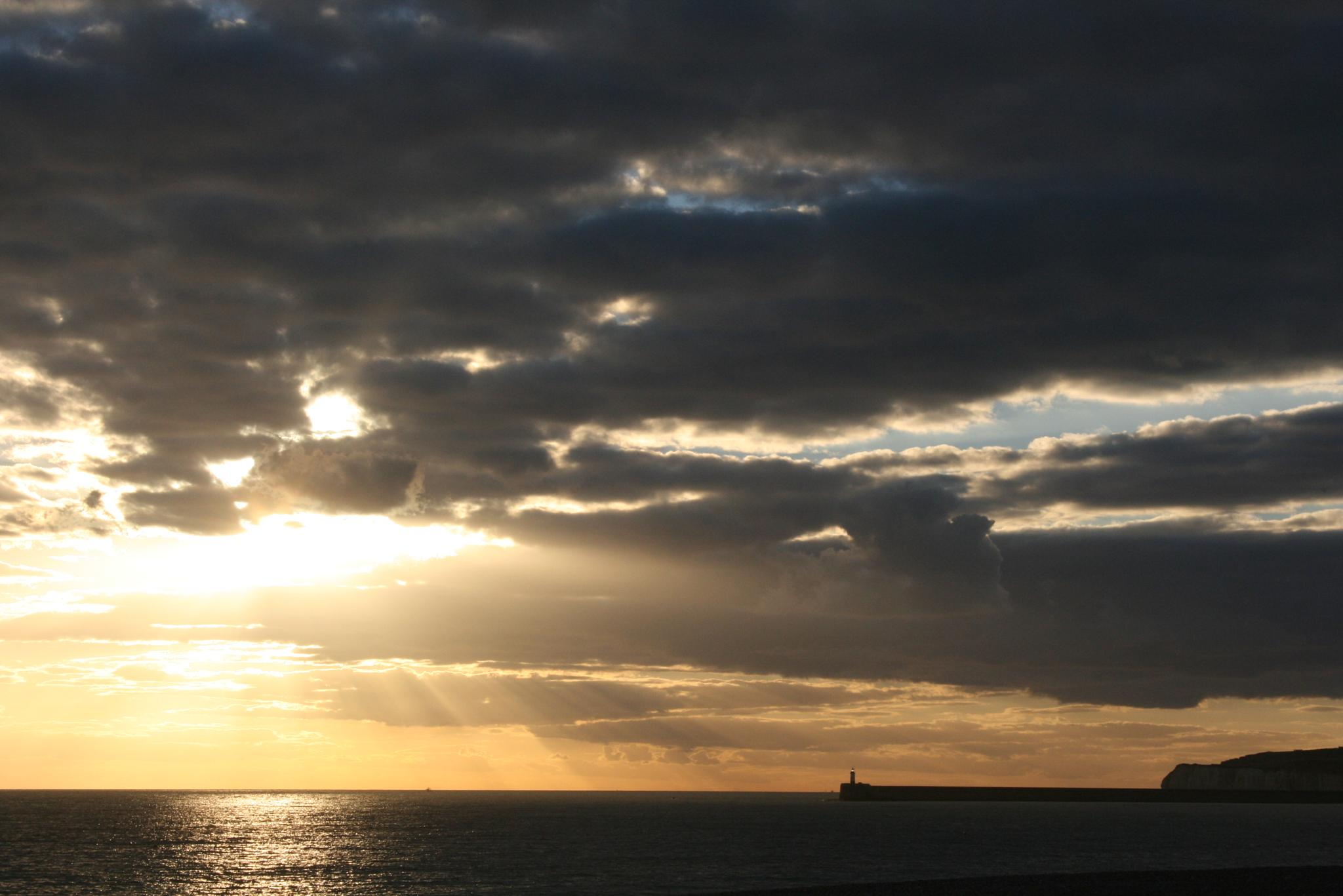 Photo in Sea and Sand #beach #seaford #light rays #lighthouse