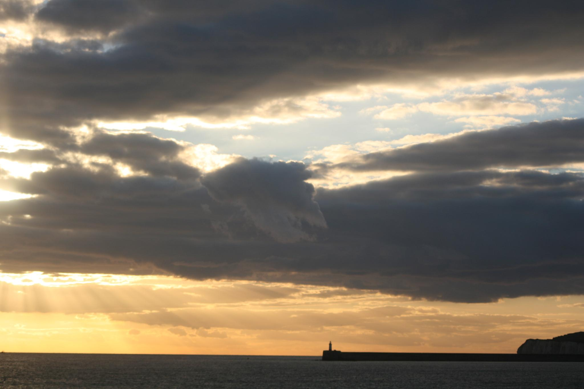 Photo in Sea and Sand #seaford #beach #light rays #sunset