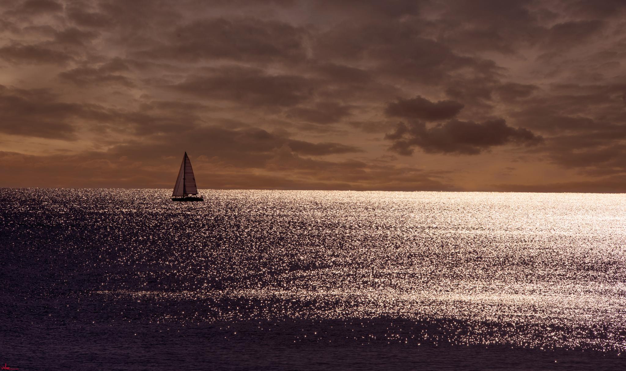 Sunset in Alicante by Viktor Stefanov