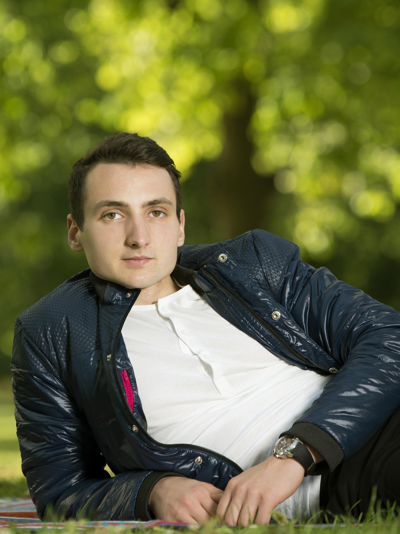 Portrait of him by Viktor Stefanov