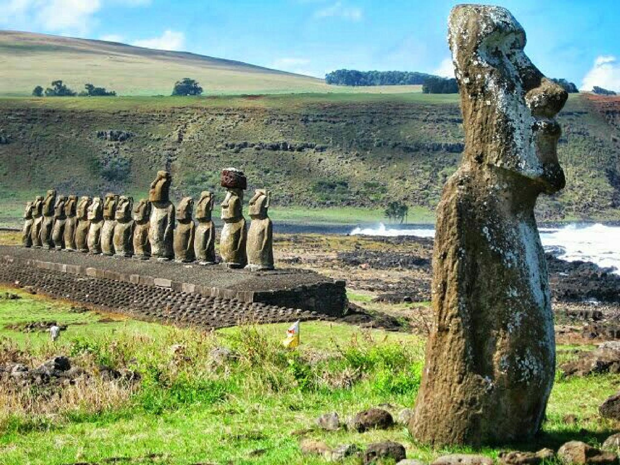 Easter Island Statues by Man4allseasons
