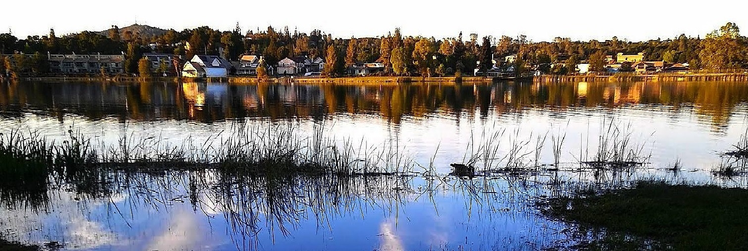 Pano of Cameron Park Lake by Laurie Puglia