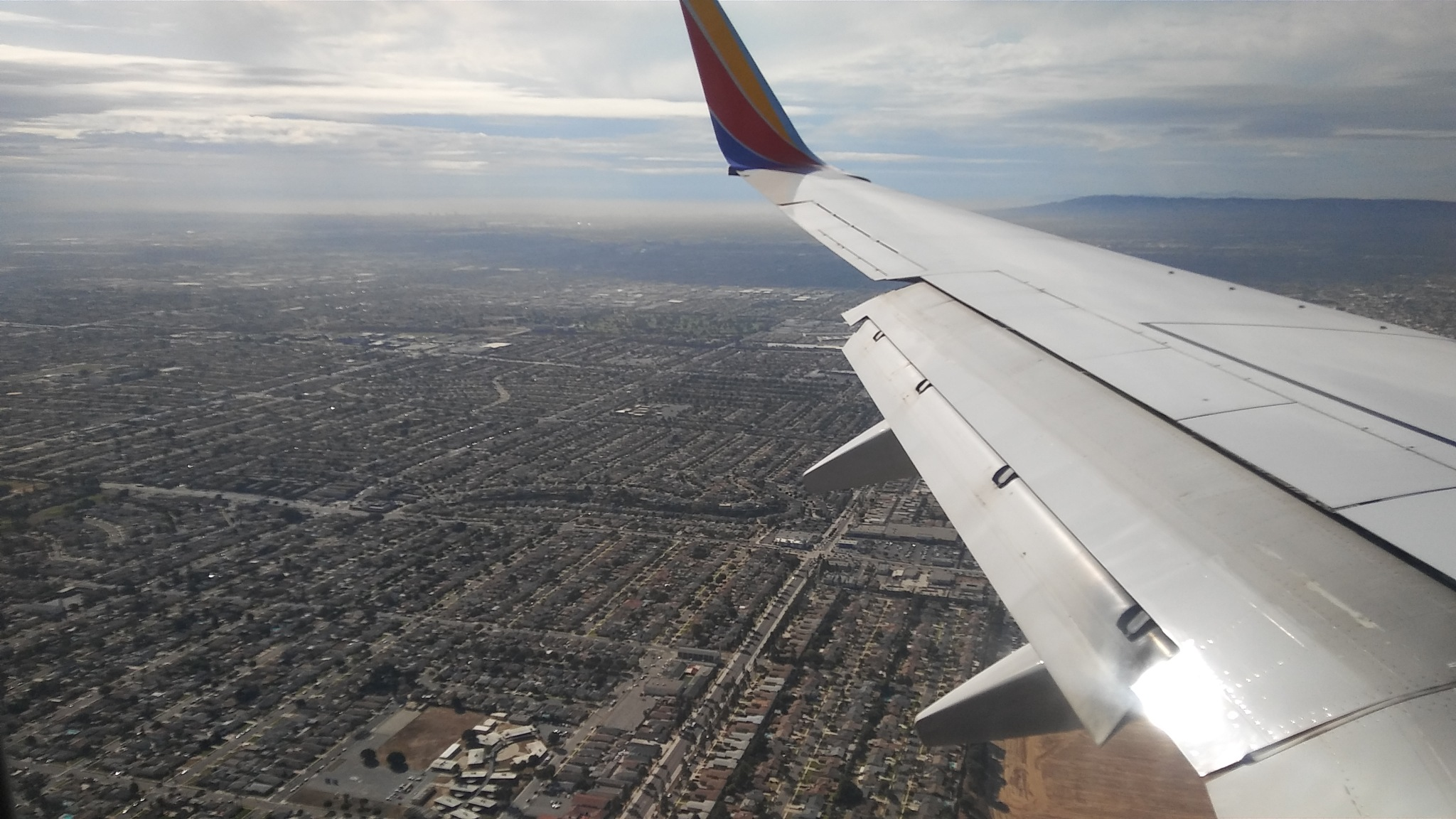 Aerial Of Los Angeles County by Laurie Puglia