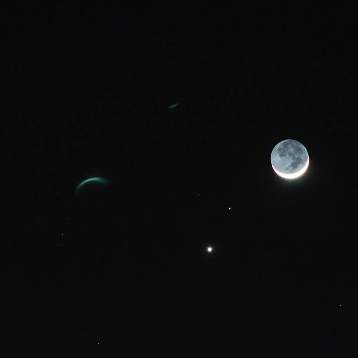 The Moon, Mars and Venus in Conjunction by Laurie Puglia
