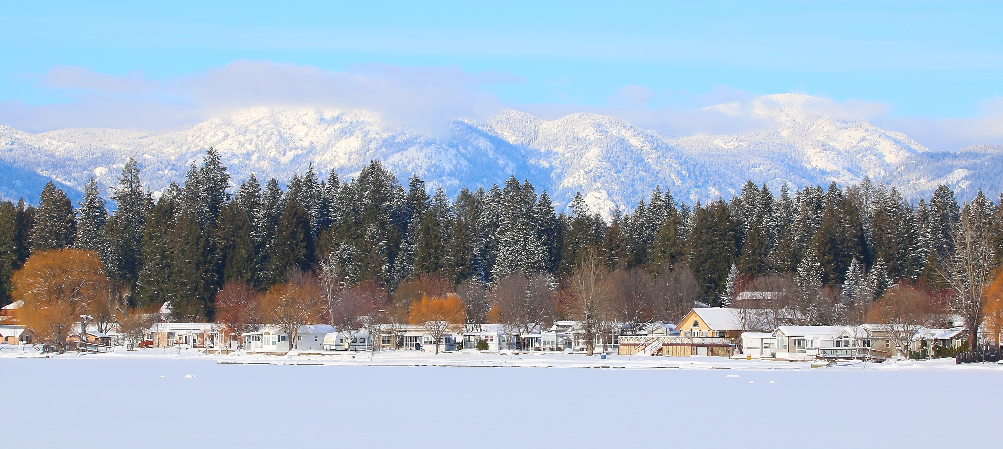 Pano One Fine Winter Day by Laurie Puglia