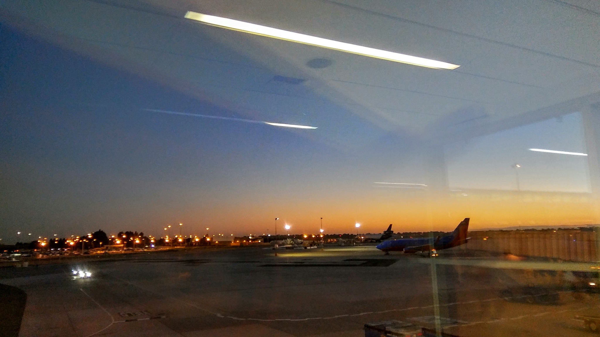 Dusk at the Sacramento Airport by Laurie Puglia