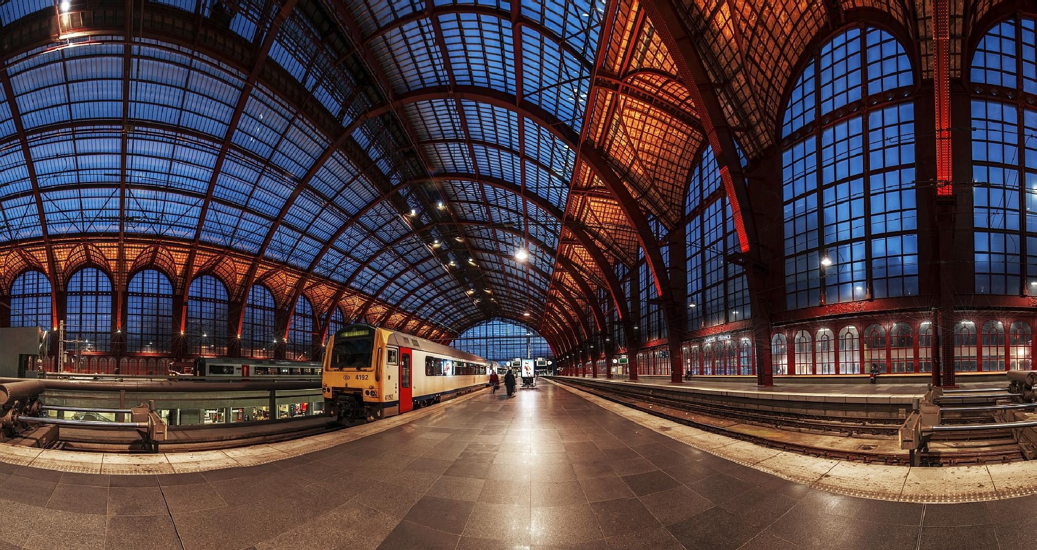 Photo in Architecture #antwerp #trainstation #belgium