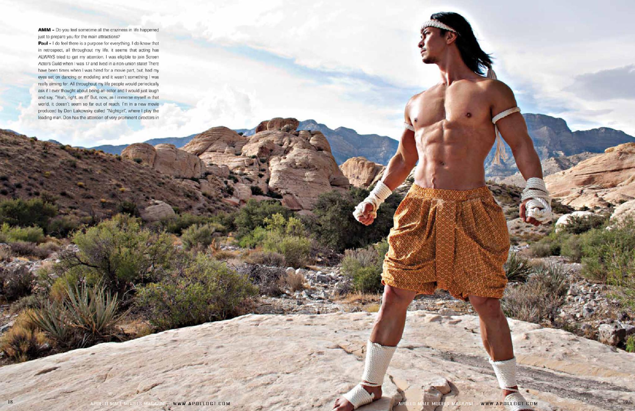 Apollo Male Models Magazine - cover model Paul Gunn by ApolloGT