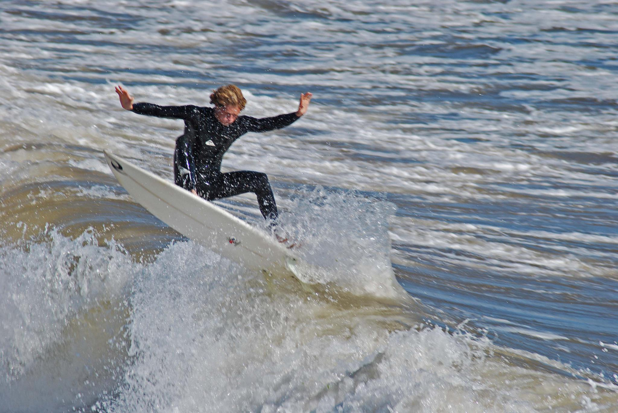 Photo in Sports #surfer #sea #waves #uk #aligeeach