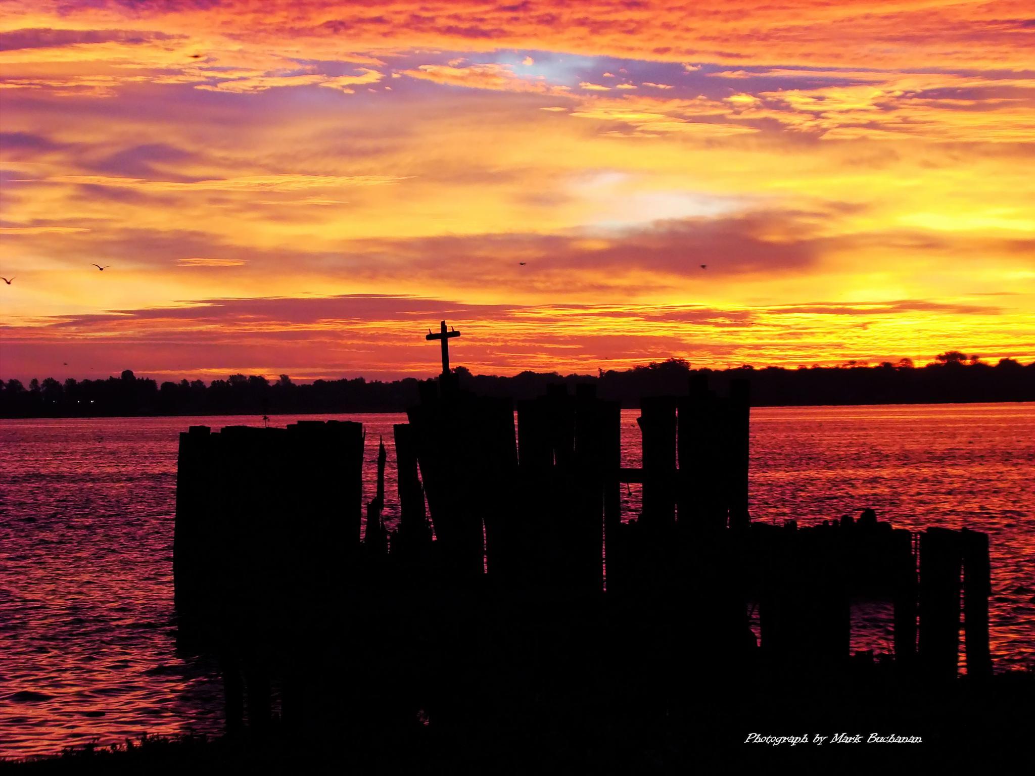 Contrasts of sunrise by Mark Buchanan