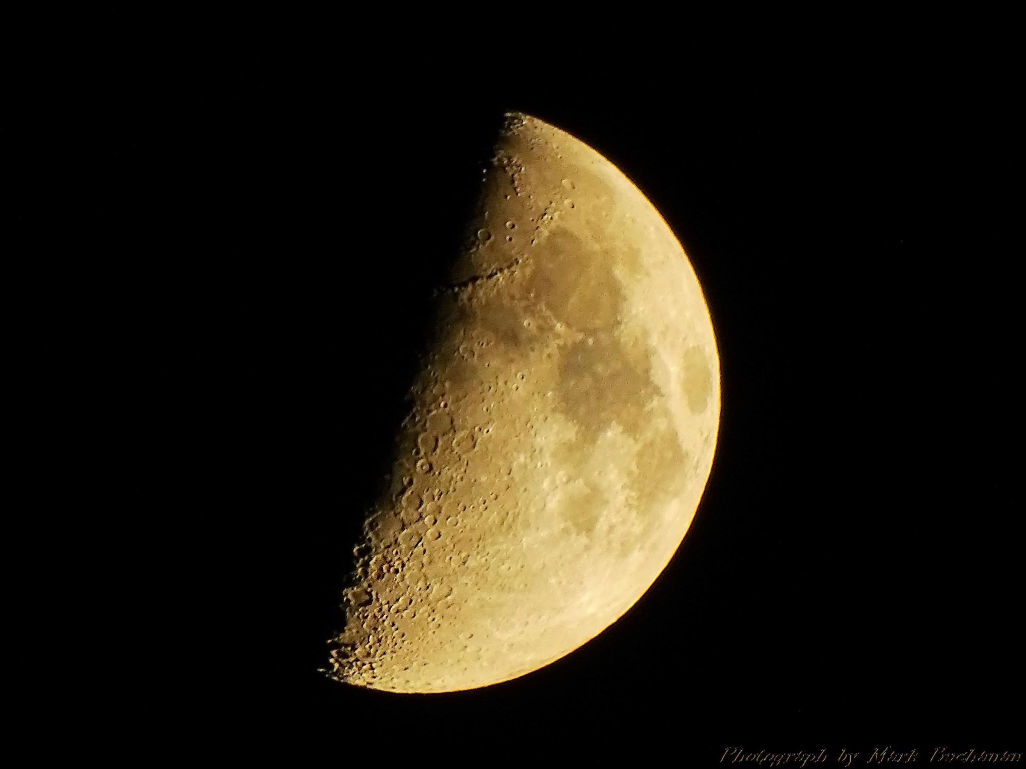 Half-moon closeup by Mark Buchanan