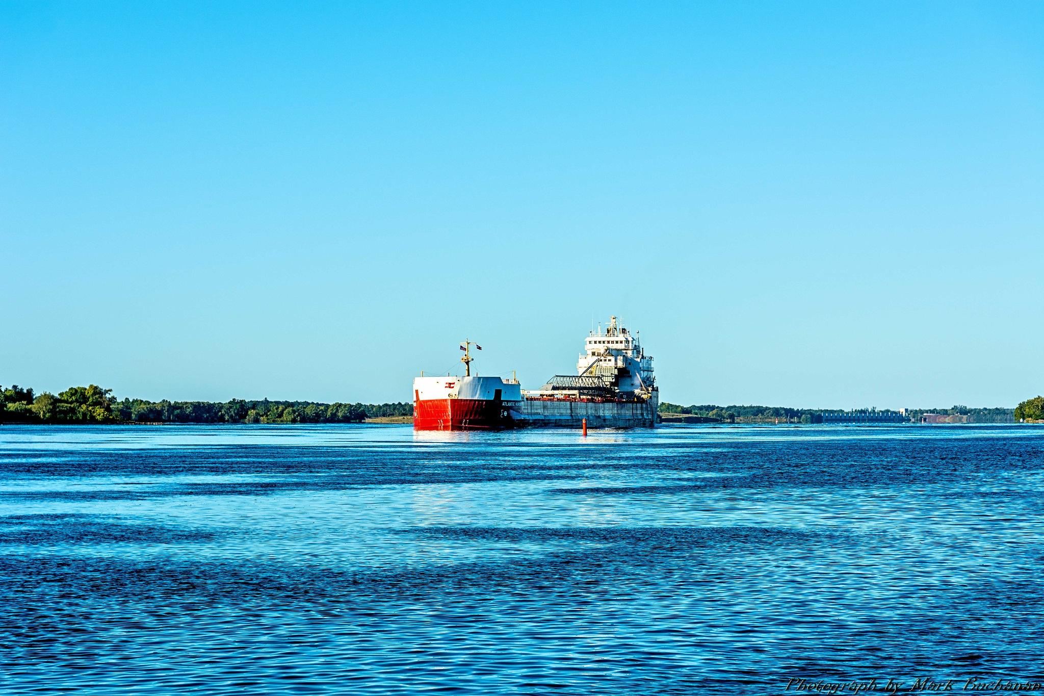 East bound freighter #1 by Mark Buchanan