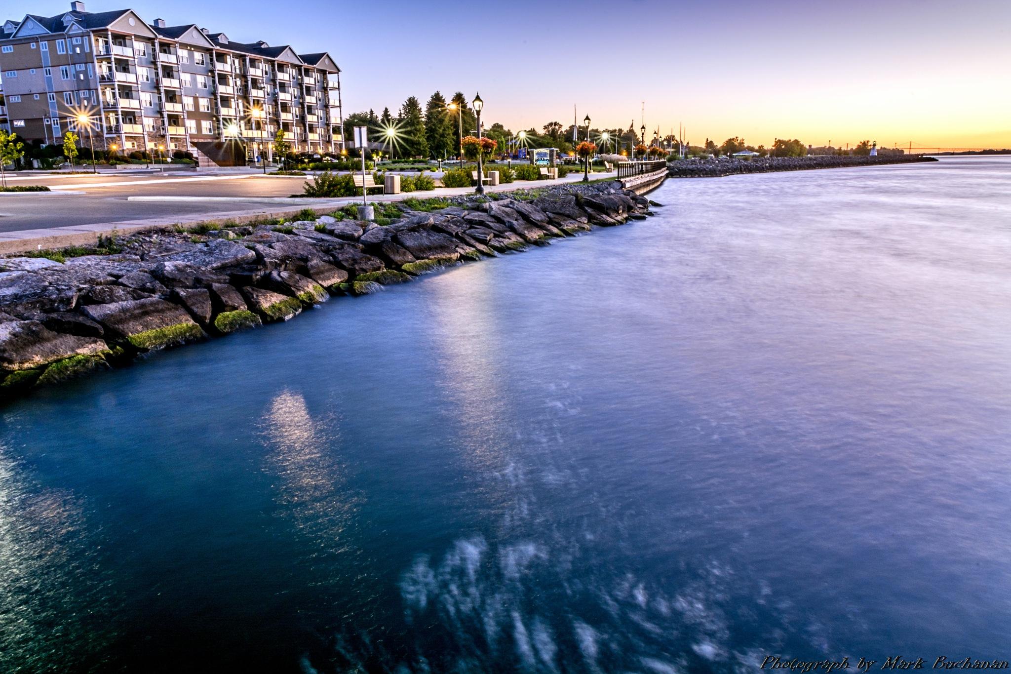Harbour sunrise #2 by Mark Buchanan