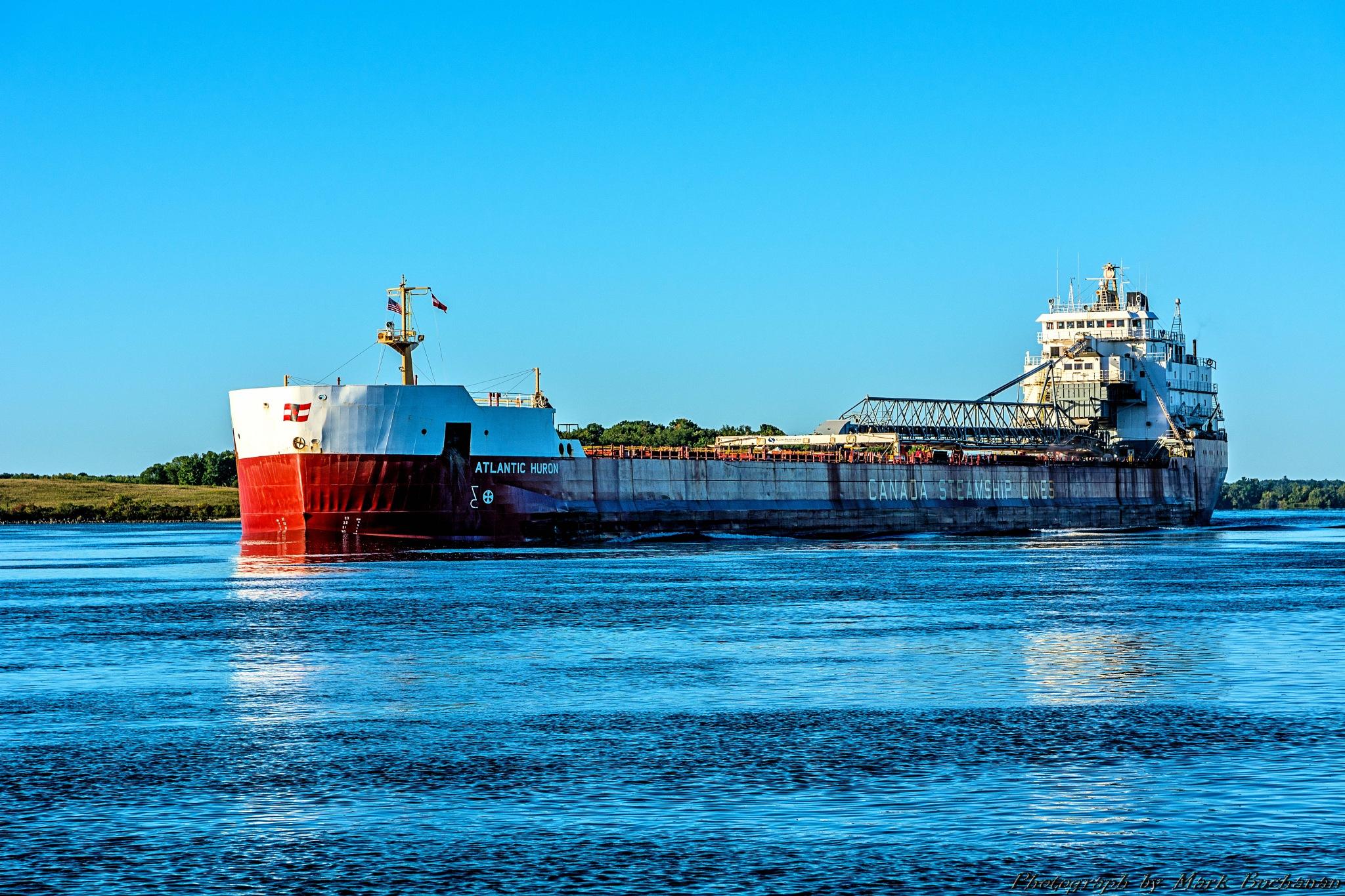 East bound freighter #3 by Mark Buchanan