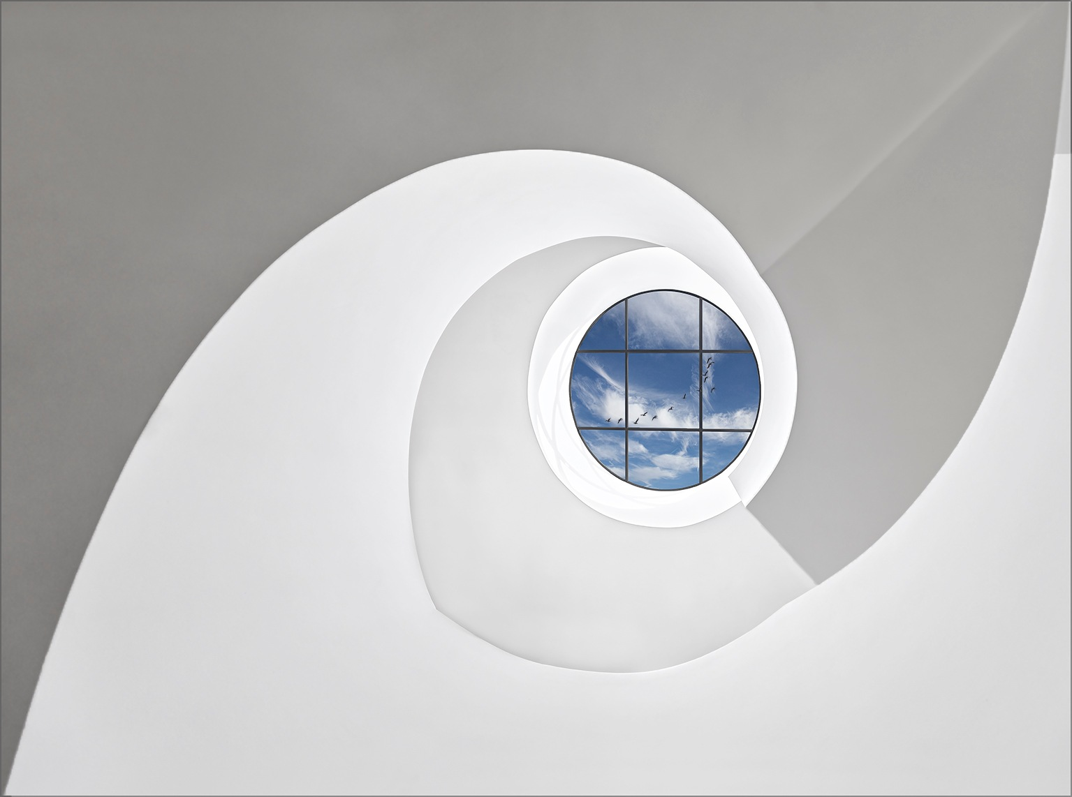 Spiral staircase at Leica_1 by Herbert A. Franke
