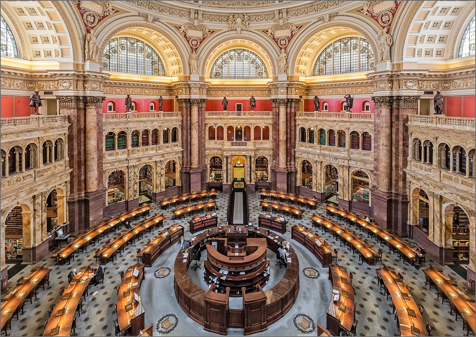 Library of Congress by Herbert A. Franke