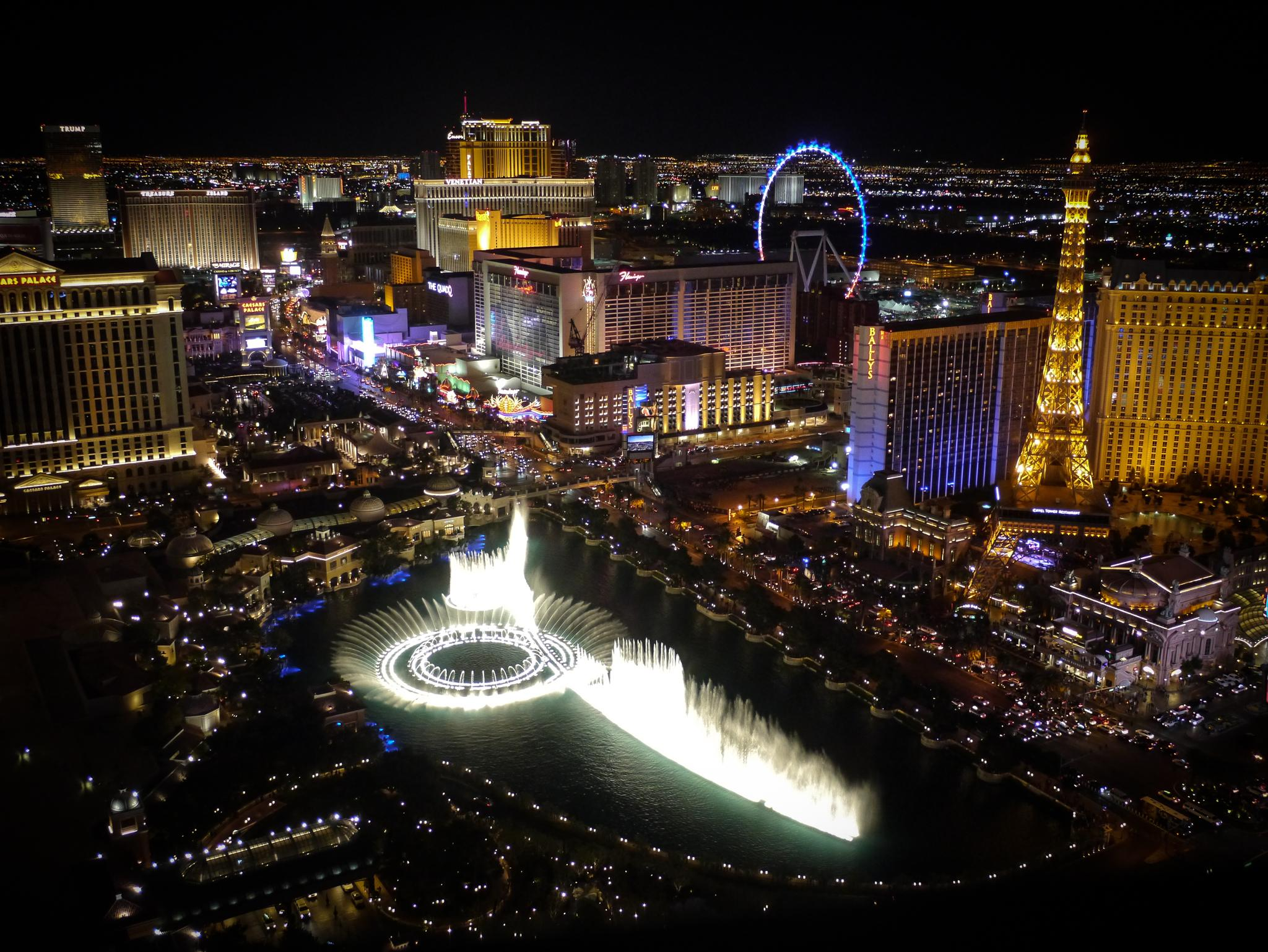 looking down on Vegas by Susan Strachan