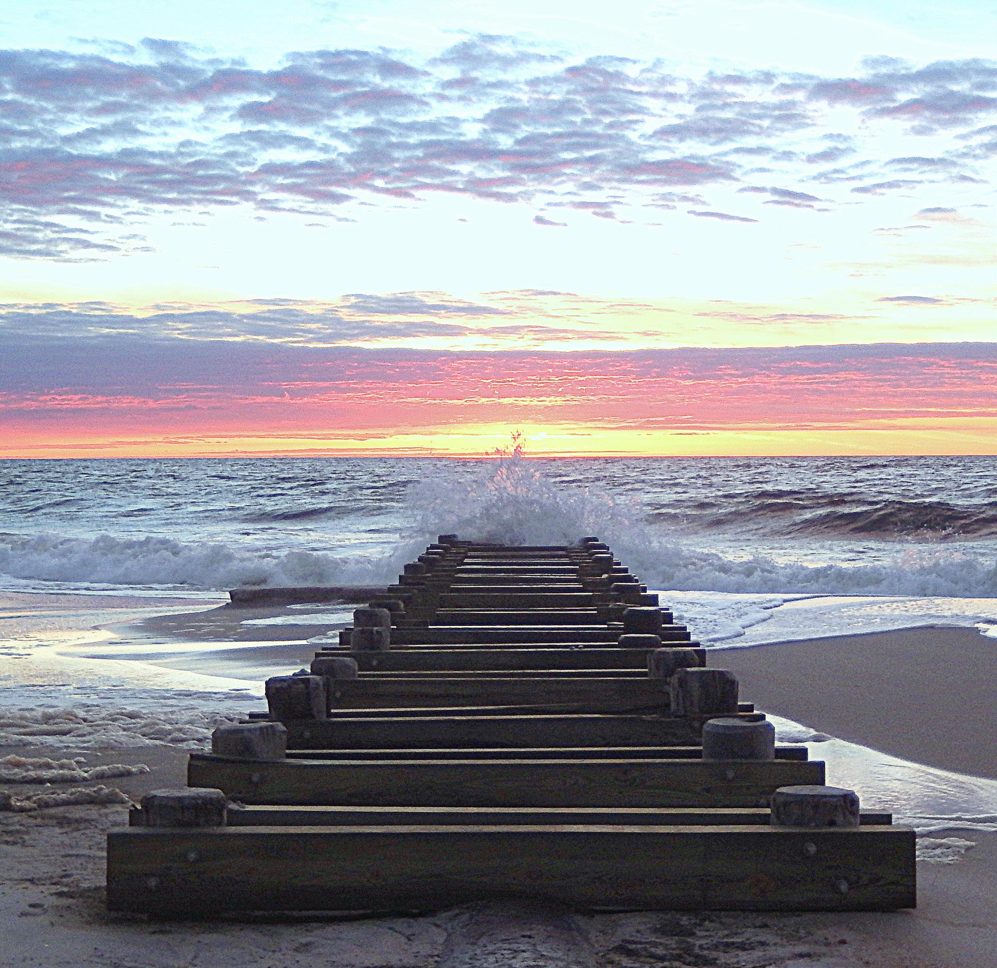 Photo in Landscape #beach #sunrise #jersey shore #pov
